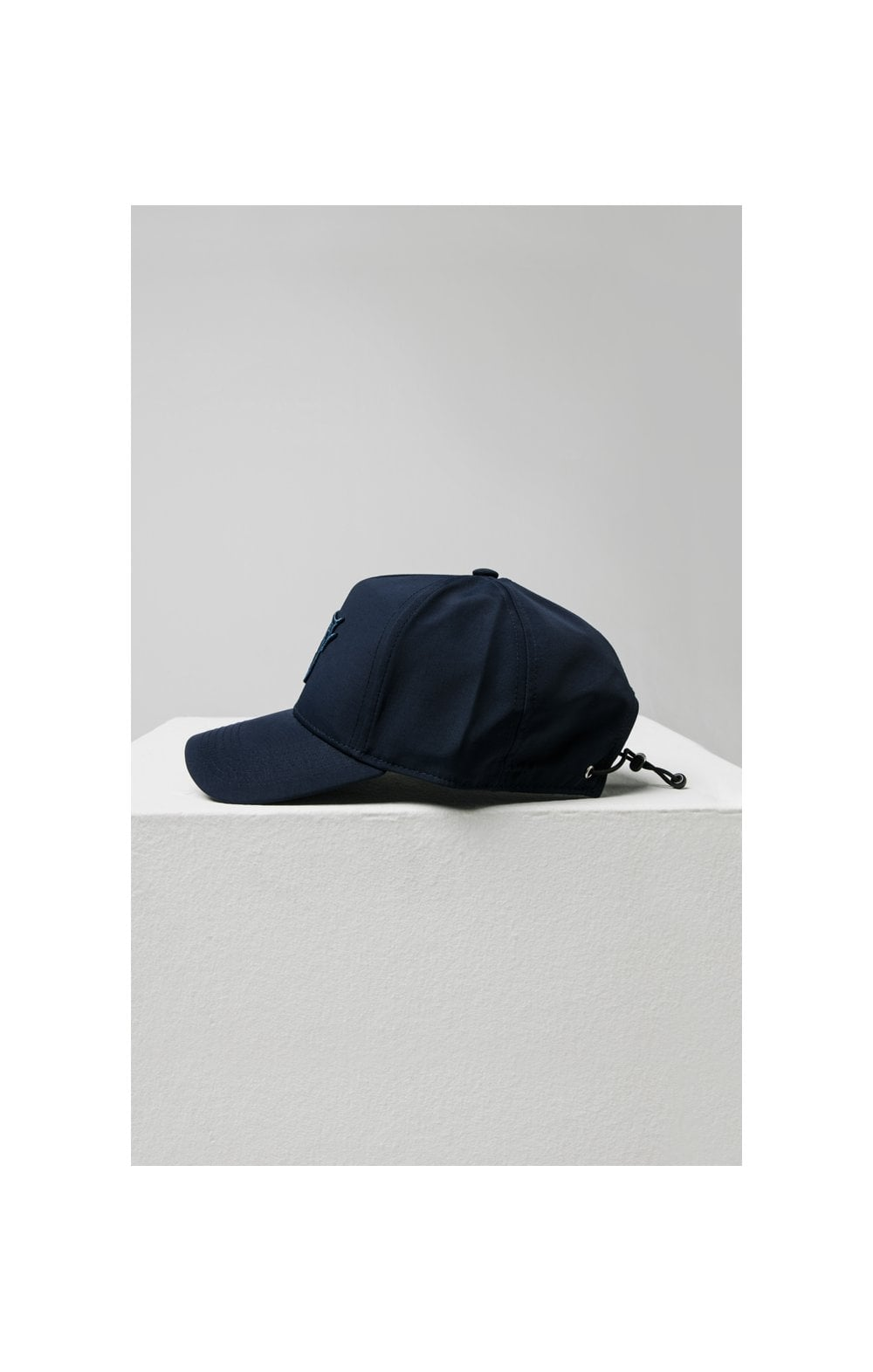 Load image into Gallery viewer, SikSilk Crushed Nylon Full Trucker - Navy (4)