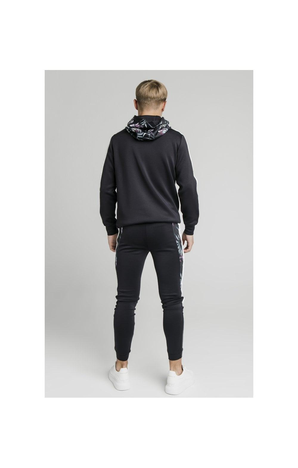 Load image into Gallery viewer, Illusive London Dark Tropical Taped Hoodie - Navy (6)