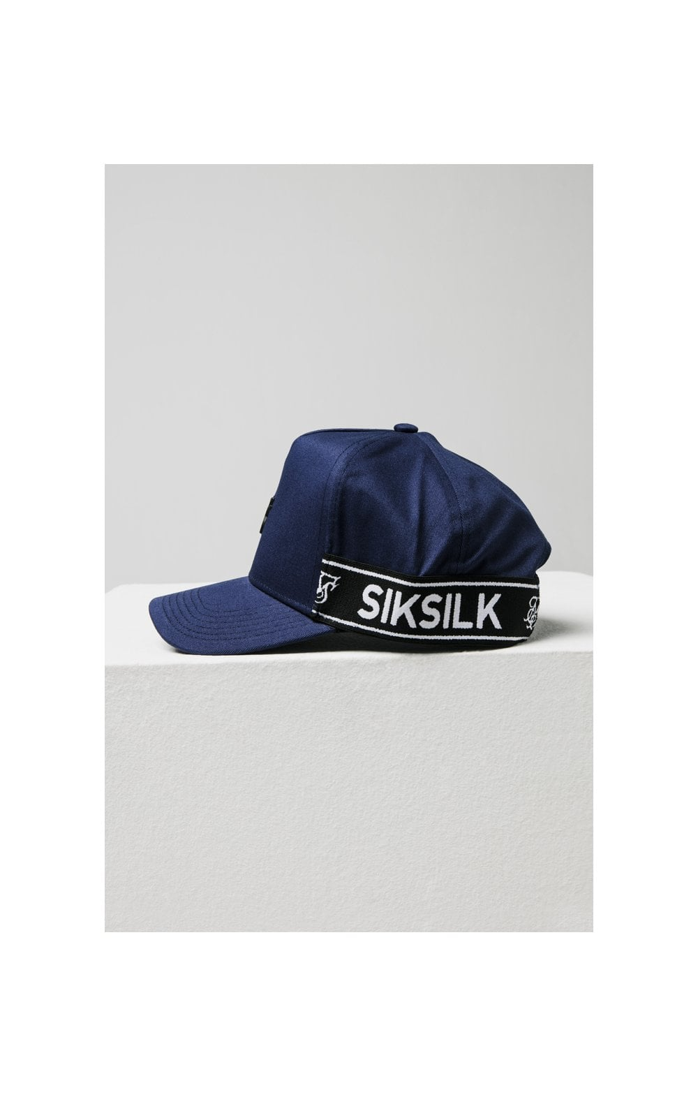 SikSilk Stretch Fit Full Trucker - Navy (4)