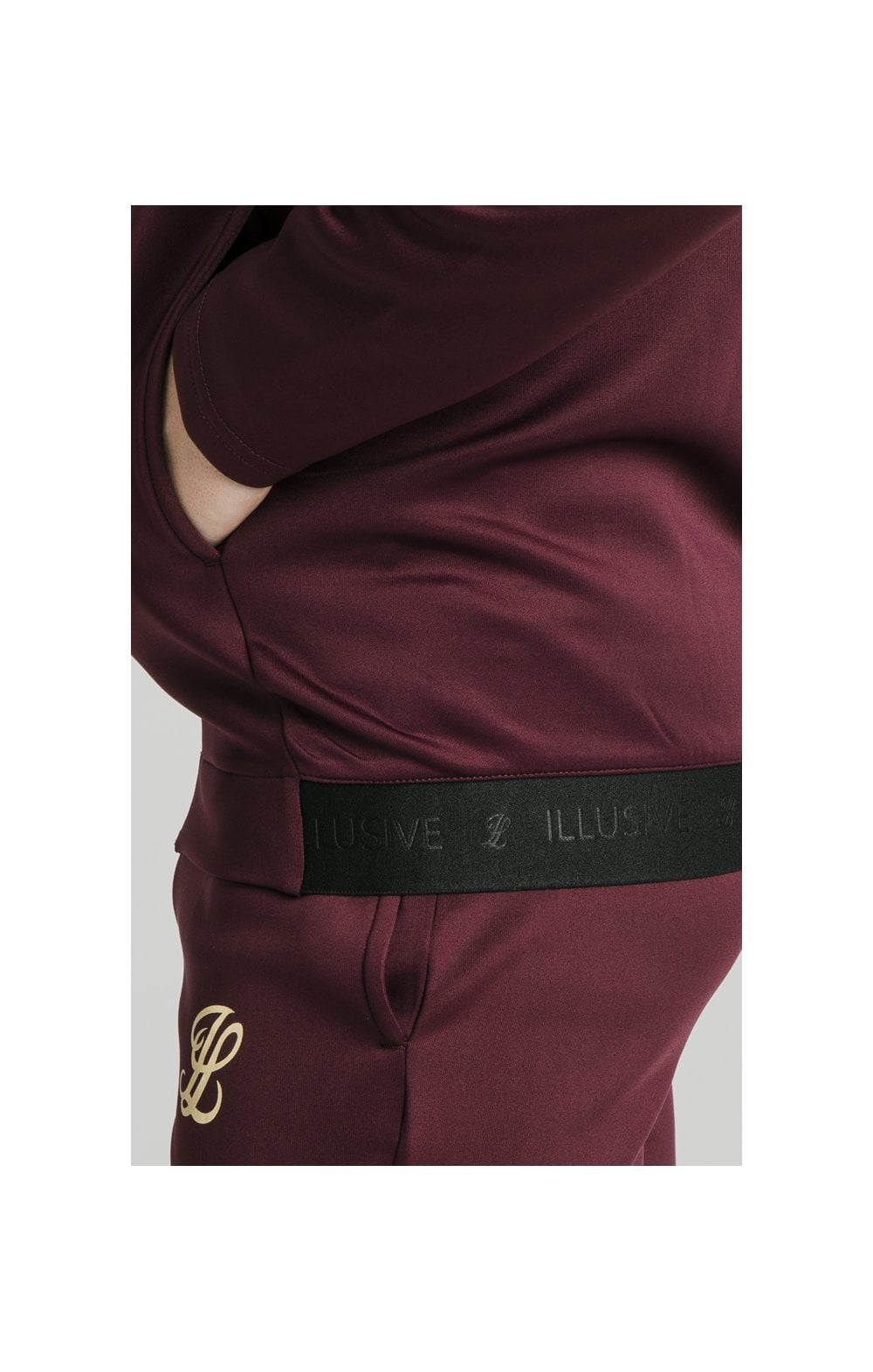 Load image into Gallery viewer, Illusive London Agility Zip Through Hoodie - Burgundy (1)