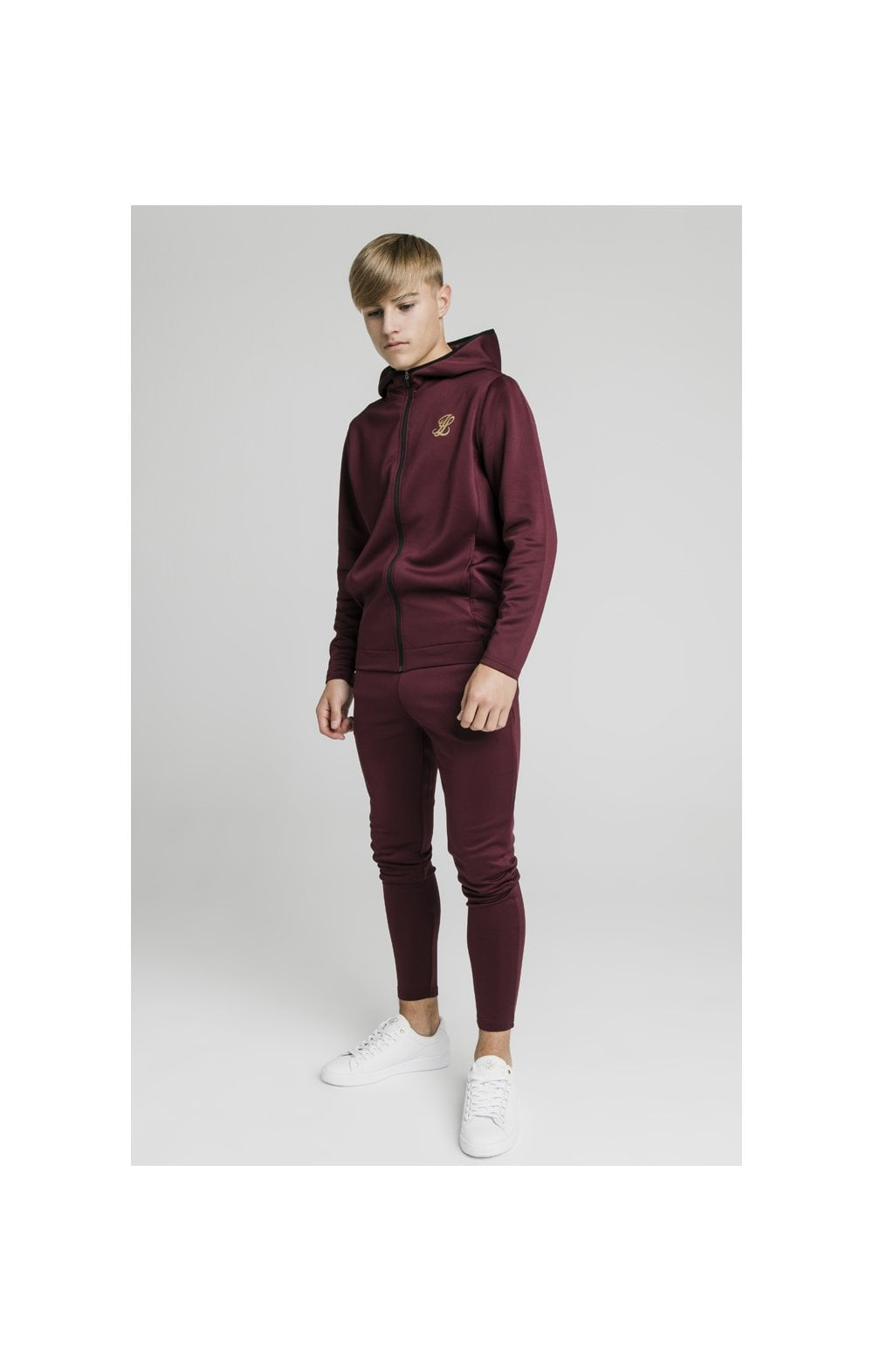 Load image into Gallery viewer, Illusive London Agility Zip Through Hoodie - Burgundy (6)