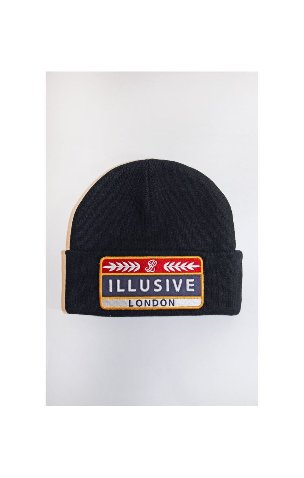 Load image into Gallery viewer, Illusive London Patch Beanie - Black