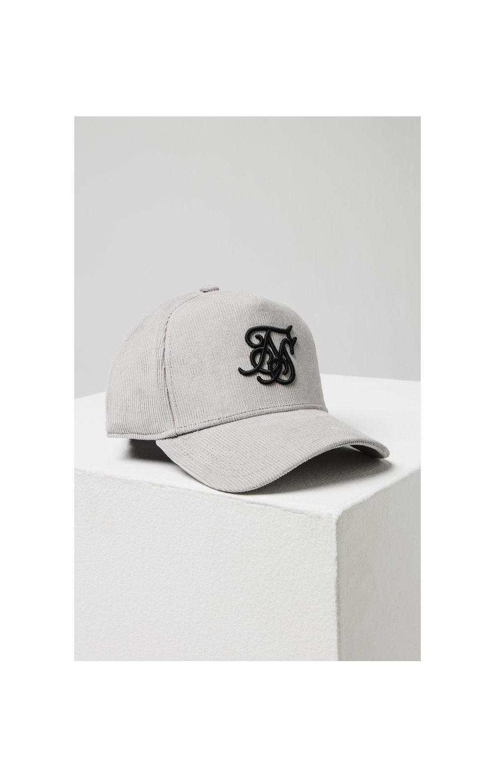 SikSilk Corduroy Full Trucker - Light Grey (1)