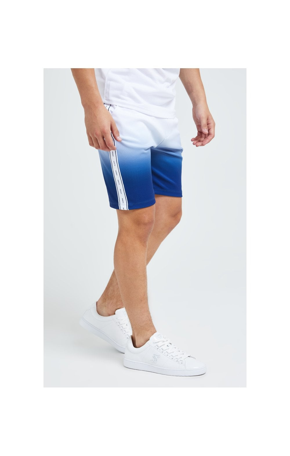 Illusive London Fade Poly Shorts - Indigo & White (3)