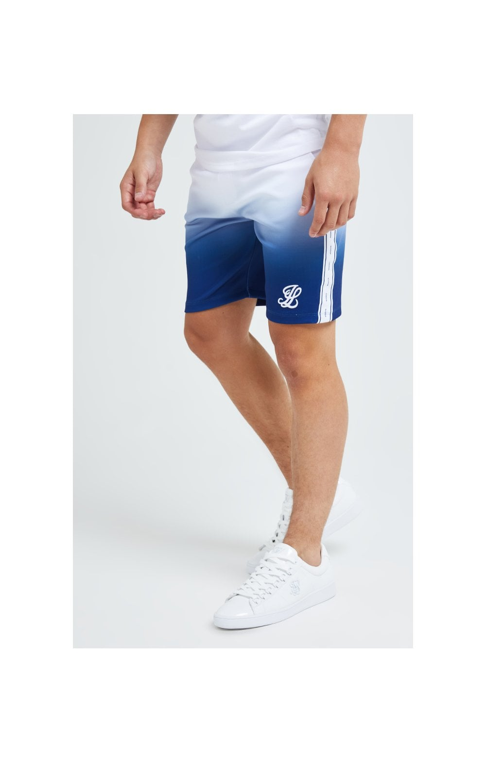 Illusive London Fade Poly Shorts - Indigo & White (5)