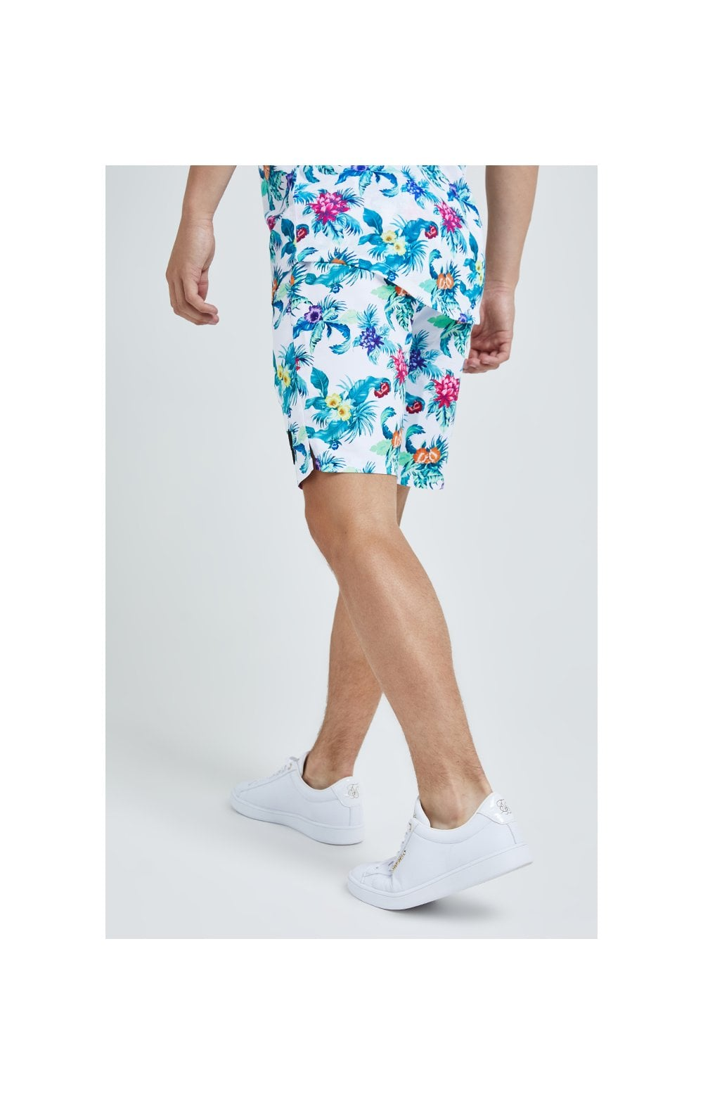Illusive London Swim Shorts - White & Floral (3)