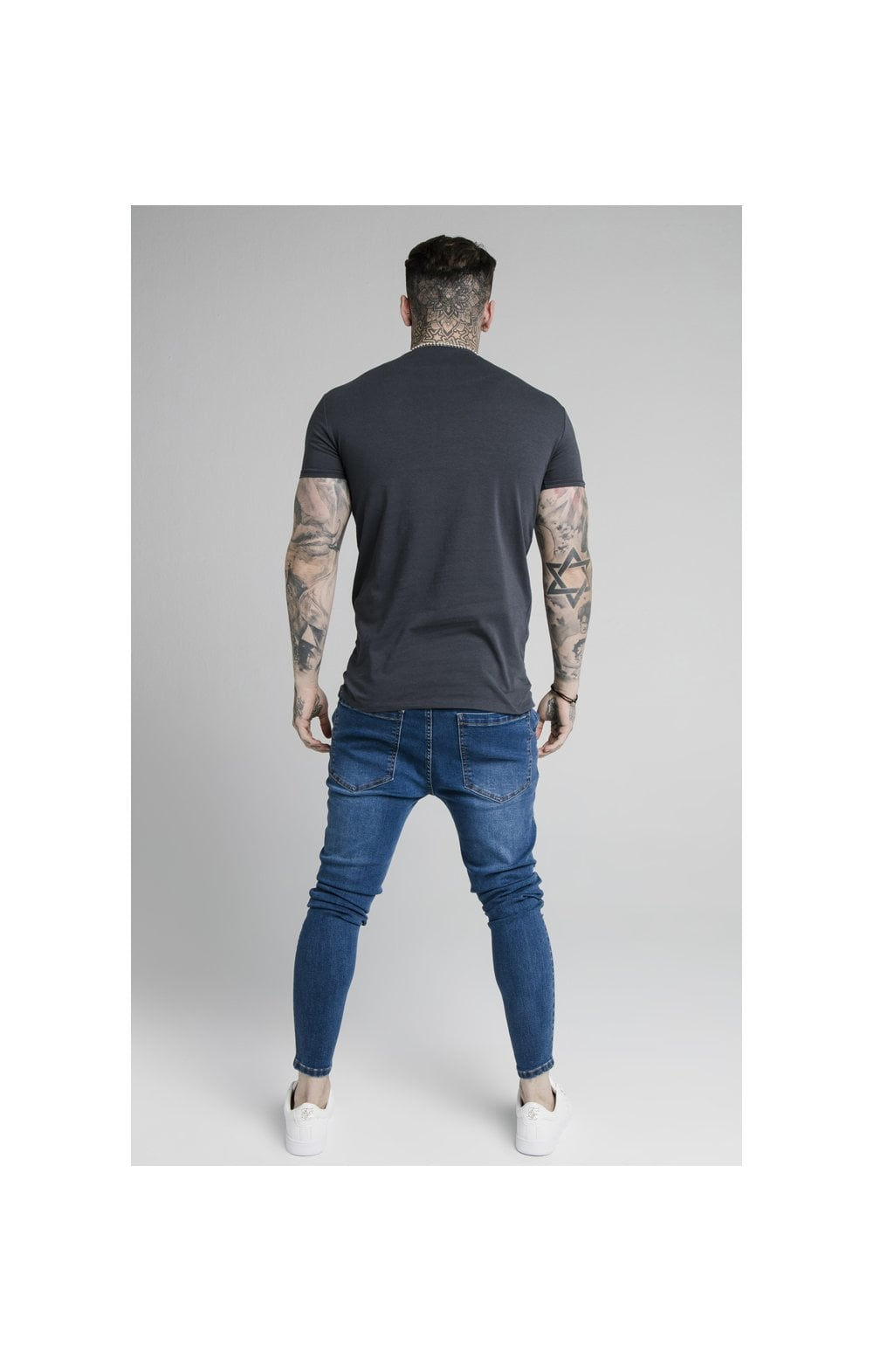 Load image into Gallery viewer, SikSilk Straight Hem Gym Tee - Navy (5)