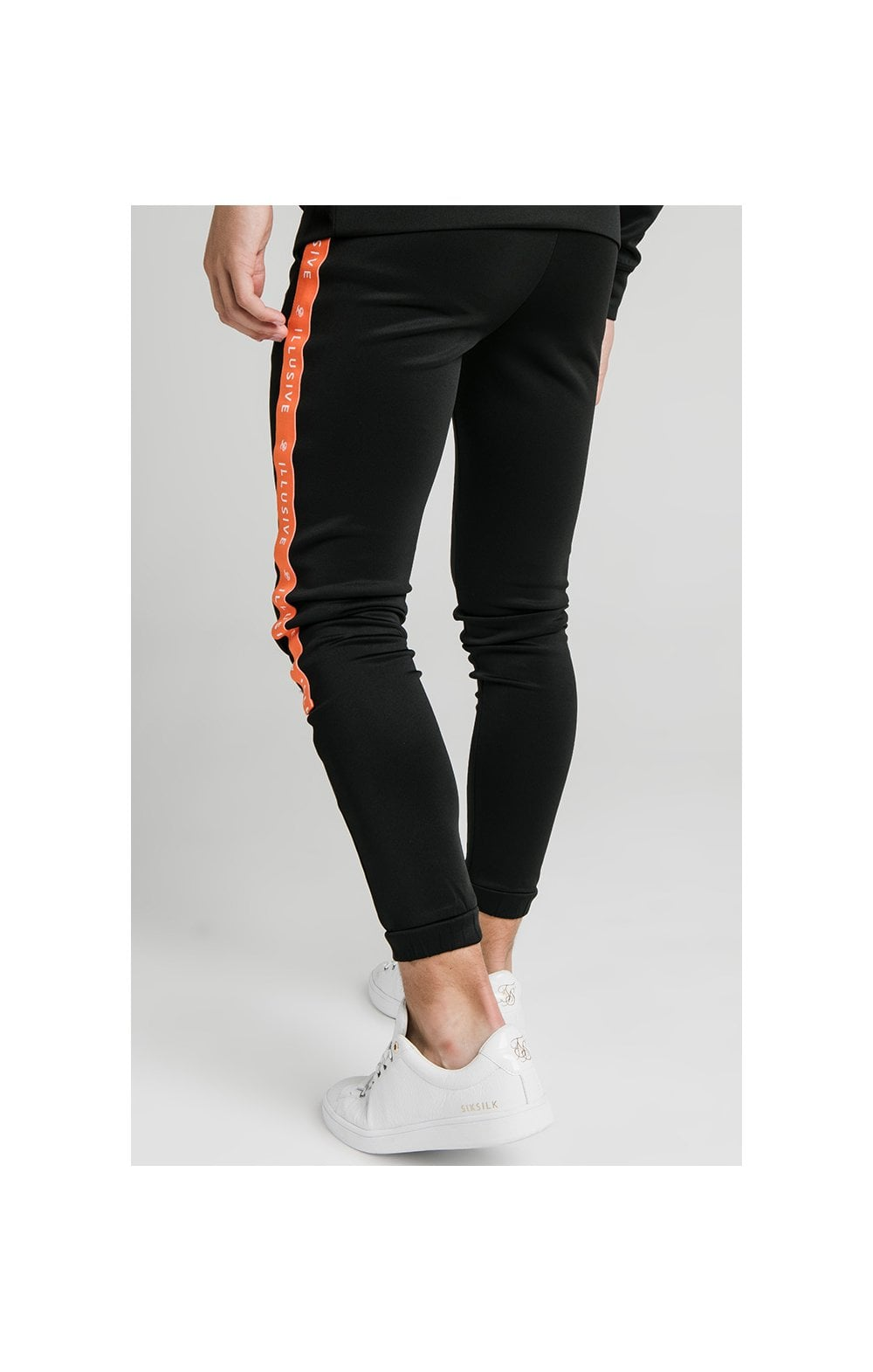 Load image into Gallery viewer, Illusive London Tape Joggers - Black (6)