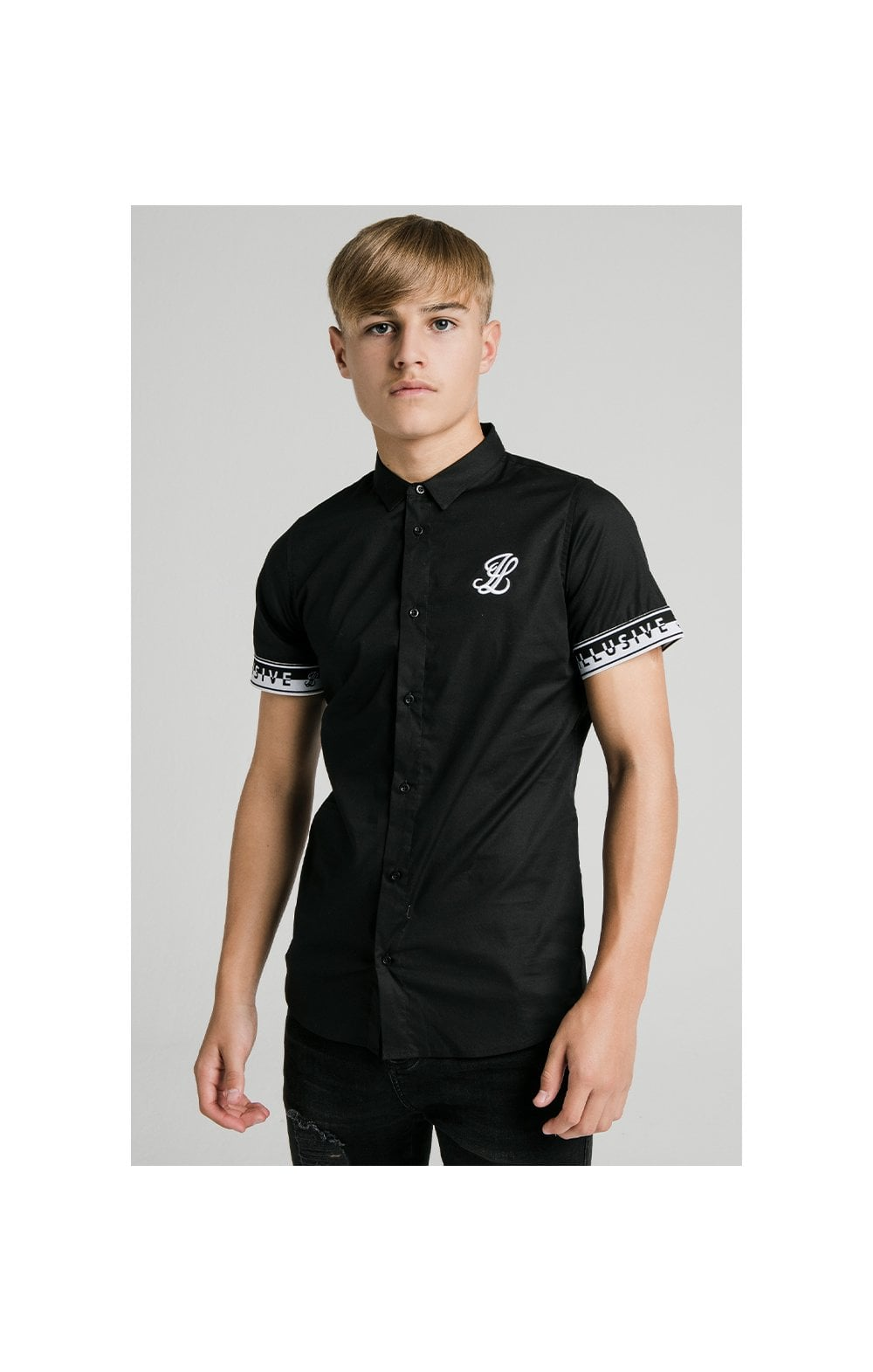 Illusive London Contrast Tape S/S Shirt - Black