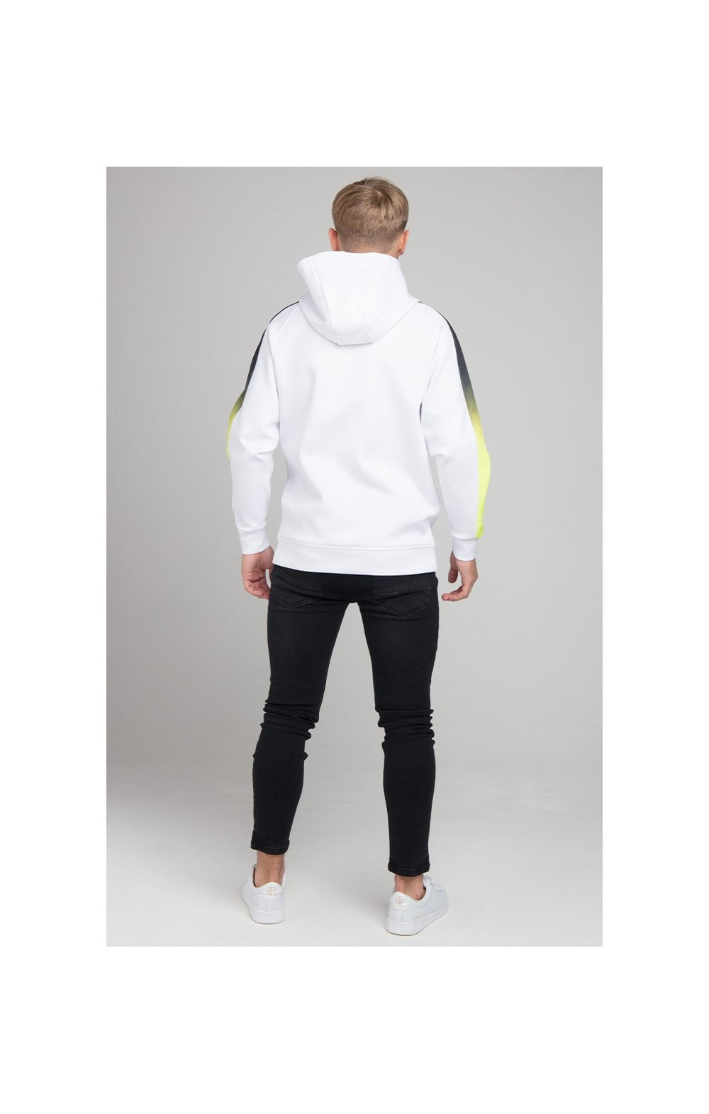 Illusive London Fade Panel Overhead Hoodie - White (4)