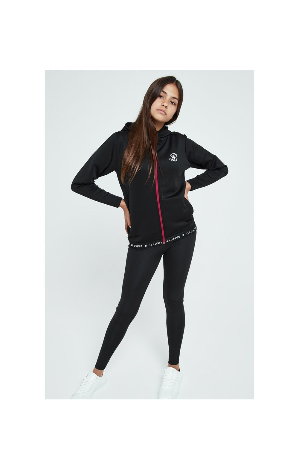 Load image into Gallery viewer, Illusive London Tape Track Jacket - Black (2)