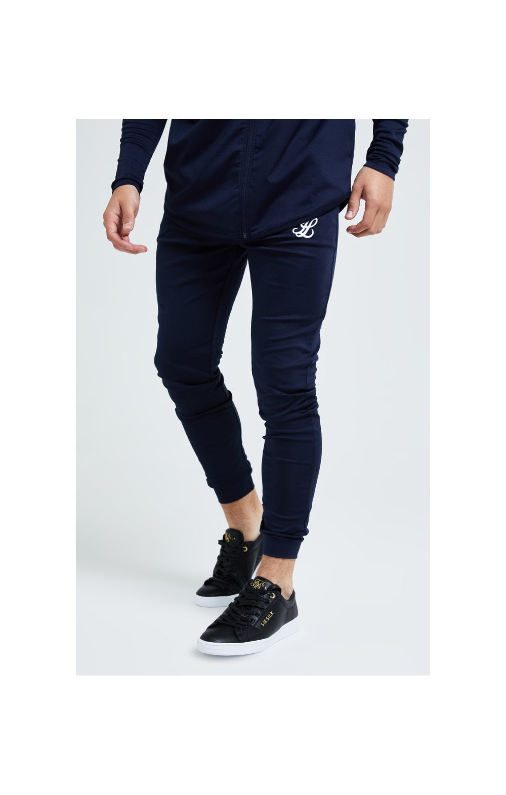 Illusive London Core Fitted Joggers - Navy