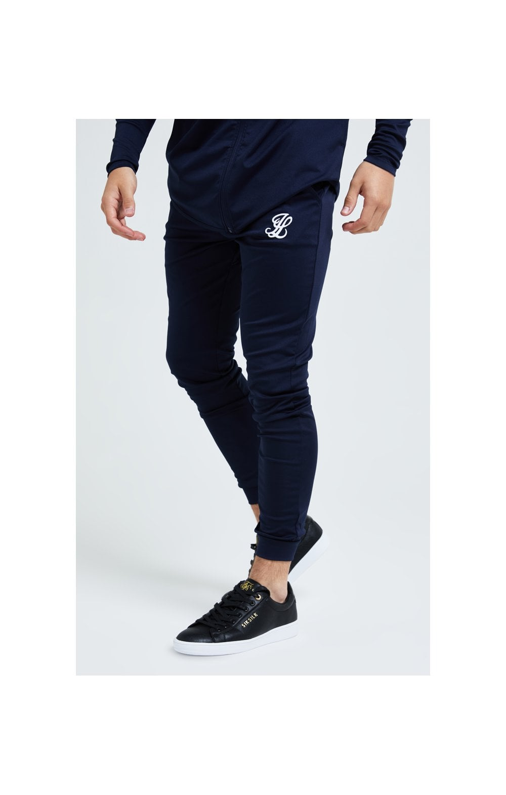 Illusive London Core Fitted Joggers - Navy (1)