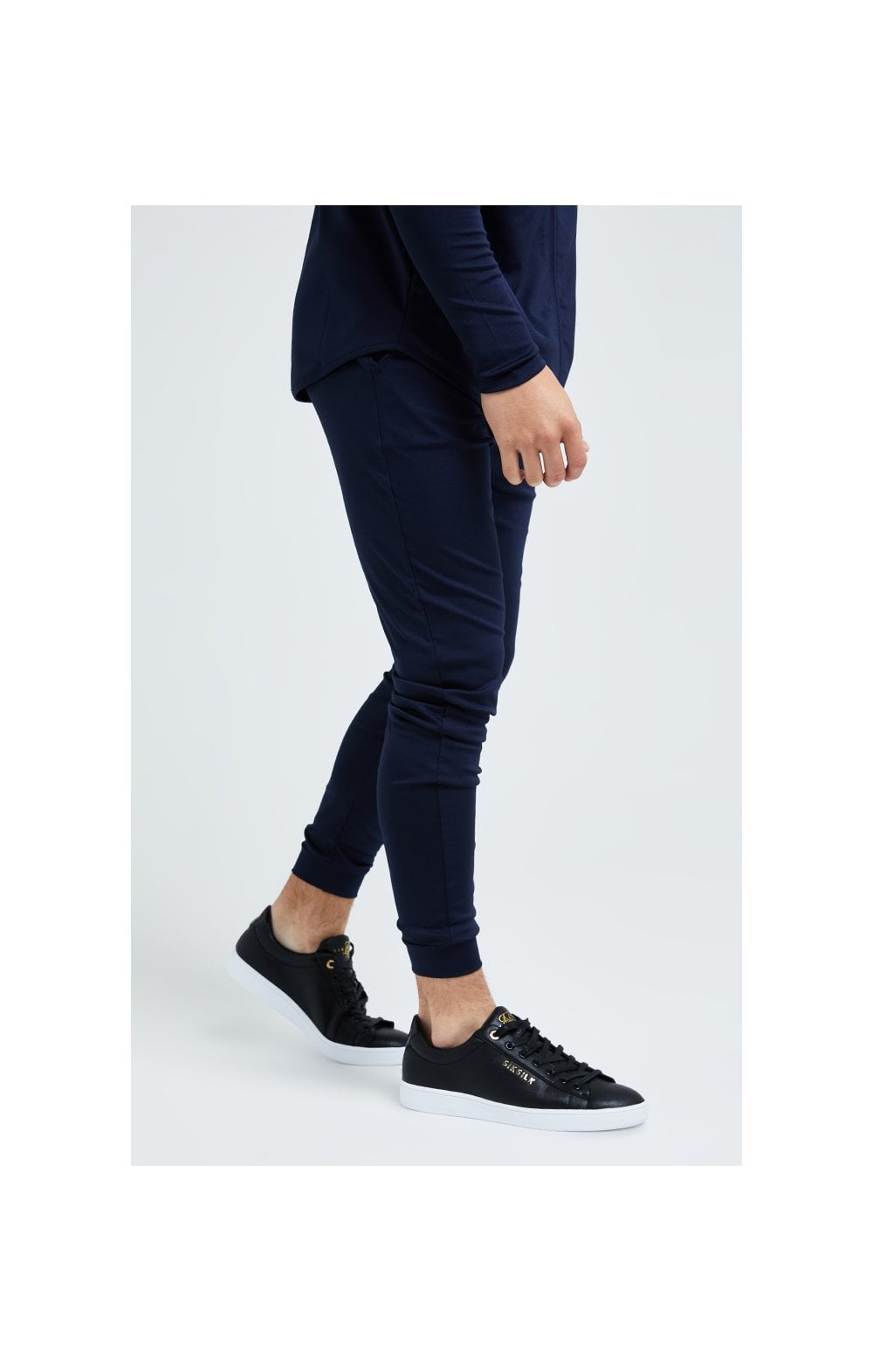 Illusive London Core Fitted Joggers - Navy (4)