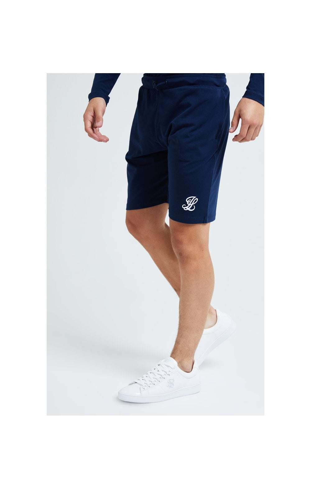 Load image into Gallery viewer, Illusive London Core Jersey Shorts - Navy (1)