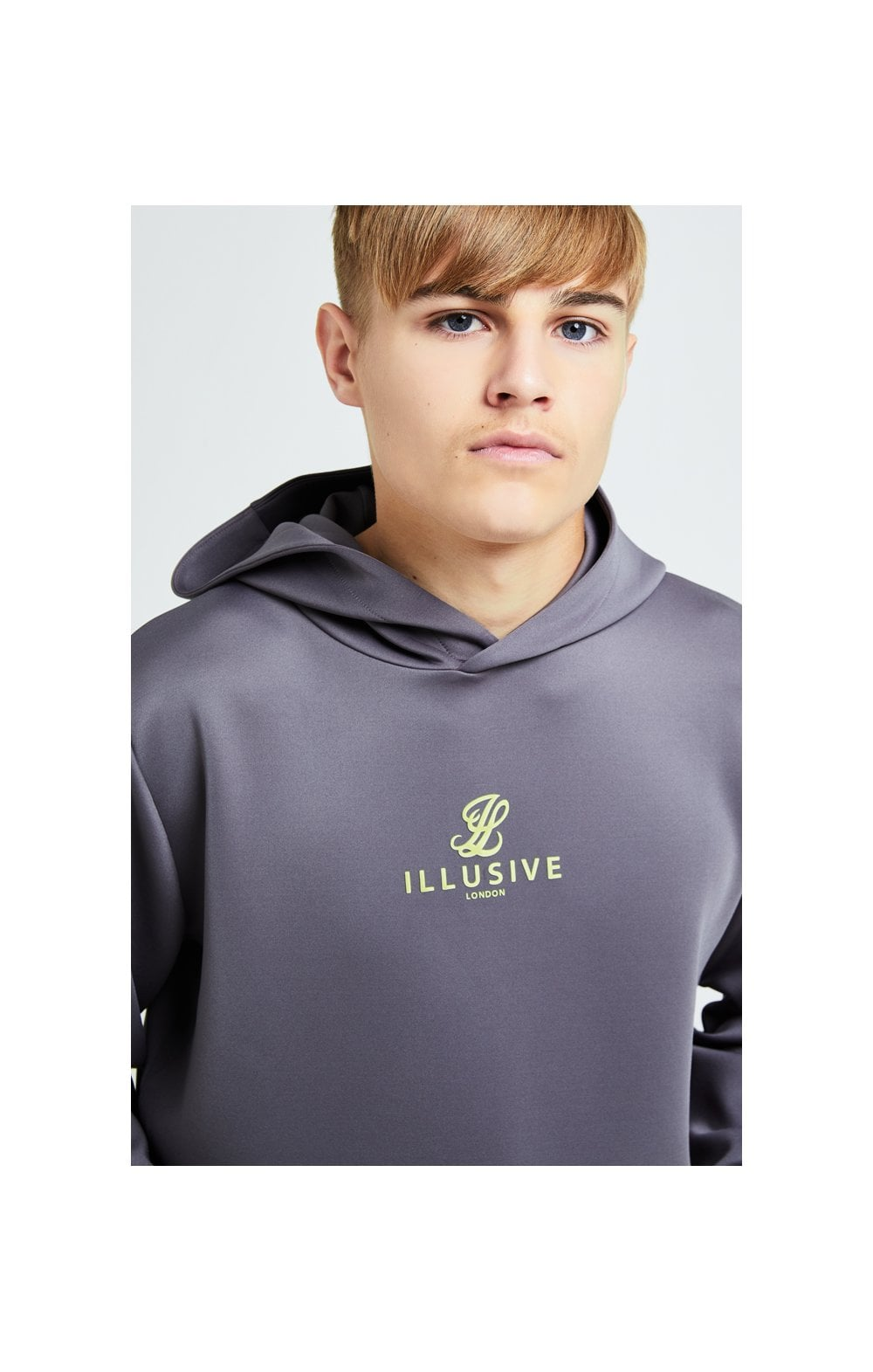 Illusive London Blaze Overhead Hoodie - Dark Grey & Lime (1)