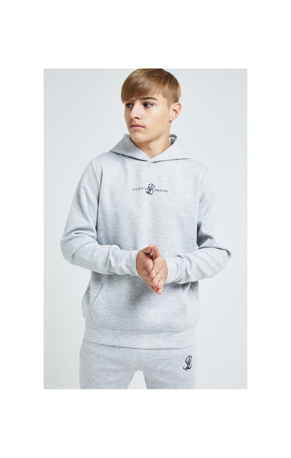 Illusive London Dual Overhead Hoodie - Grey