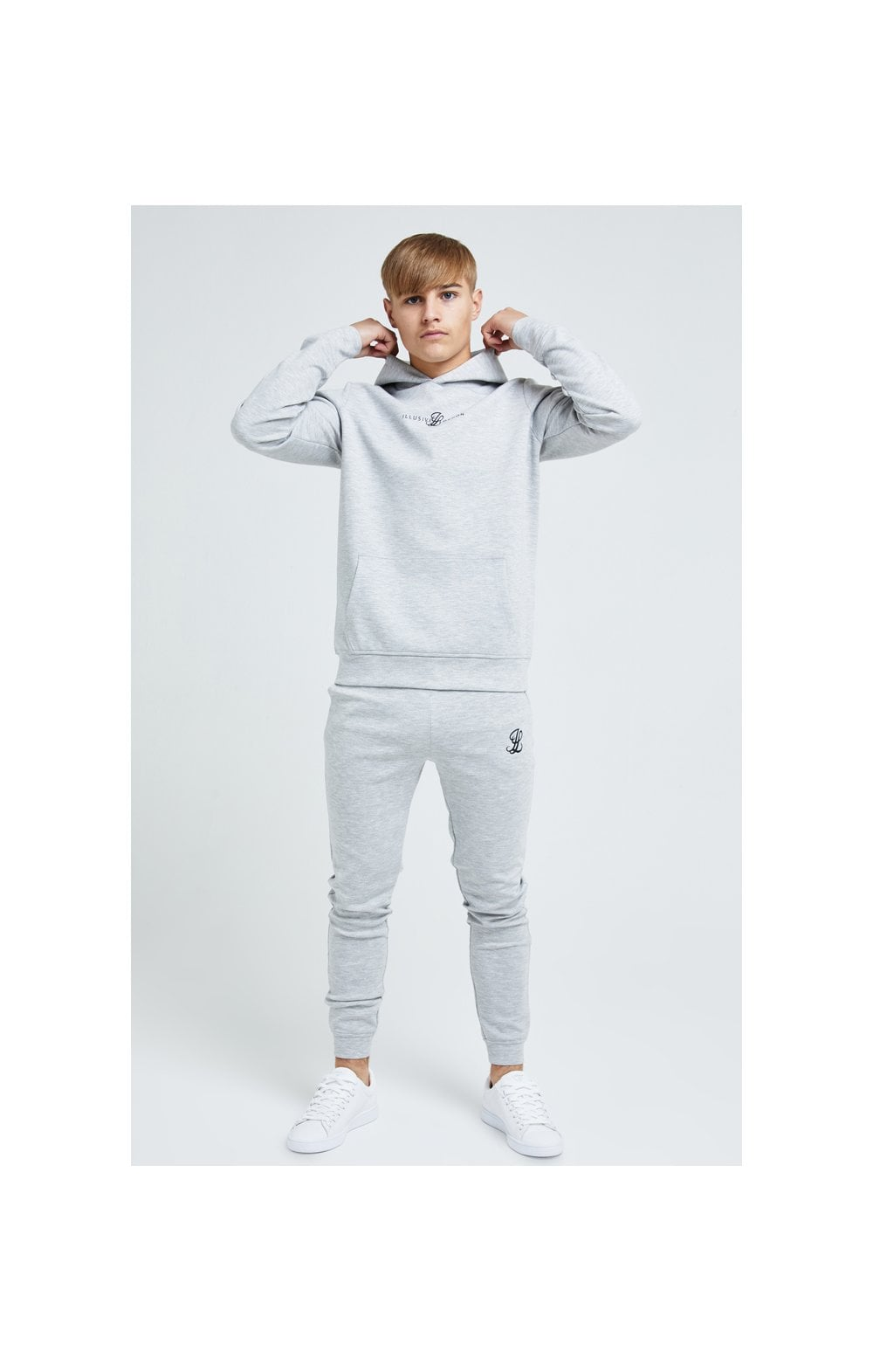 Illusive London Dual Overhead Hoodie - Grey (2)