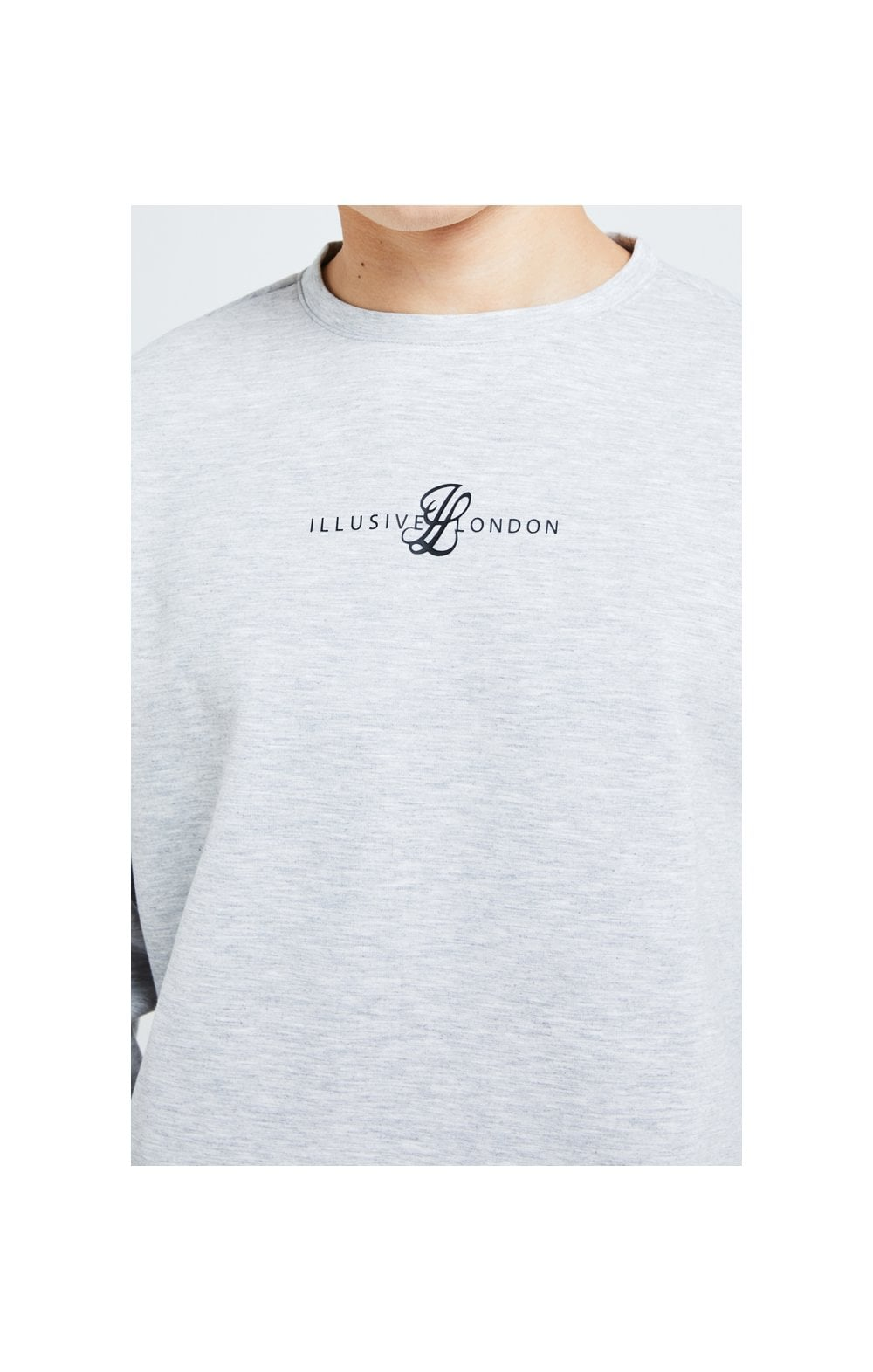 Load image into Gallery viewer, Illusive London Dual Crew Sweater - Grey (1)