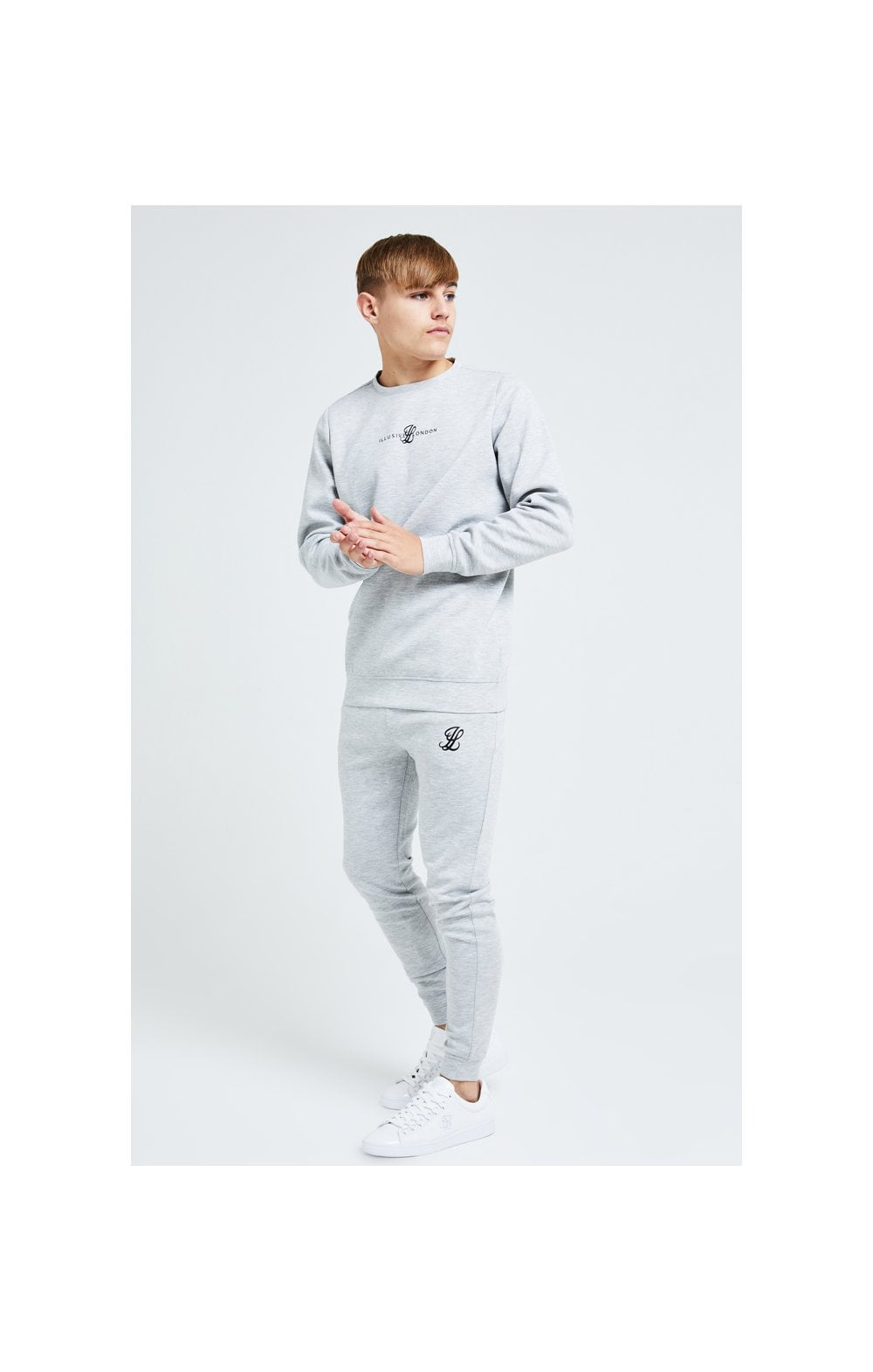 Load image into Gallery viewer, Illusive London Dual Crew Sweater - Grey (3)