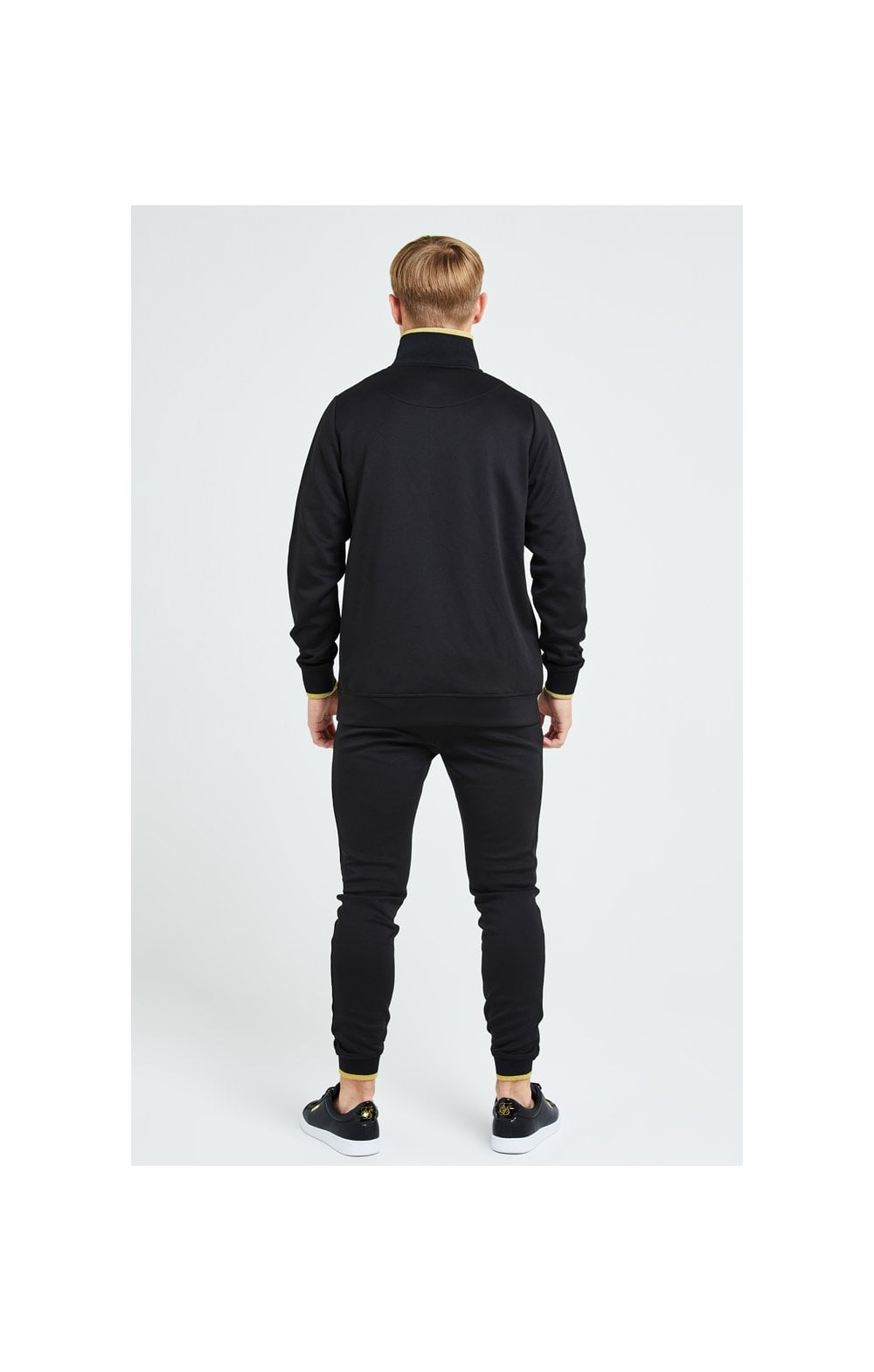 Illusive London Sovereign 1/4 Zip Hoodie  - Black & Gold (6)