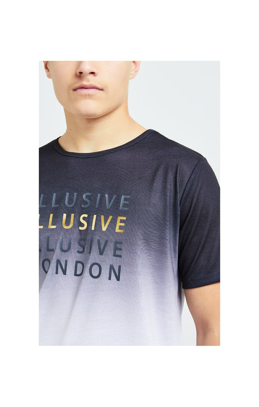 Illusive London Sovereign Fade Tee - Black & White