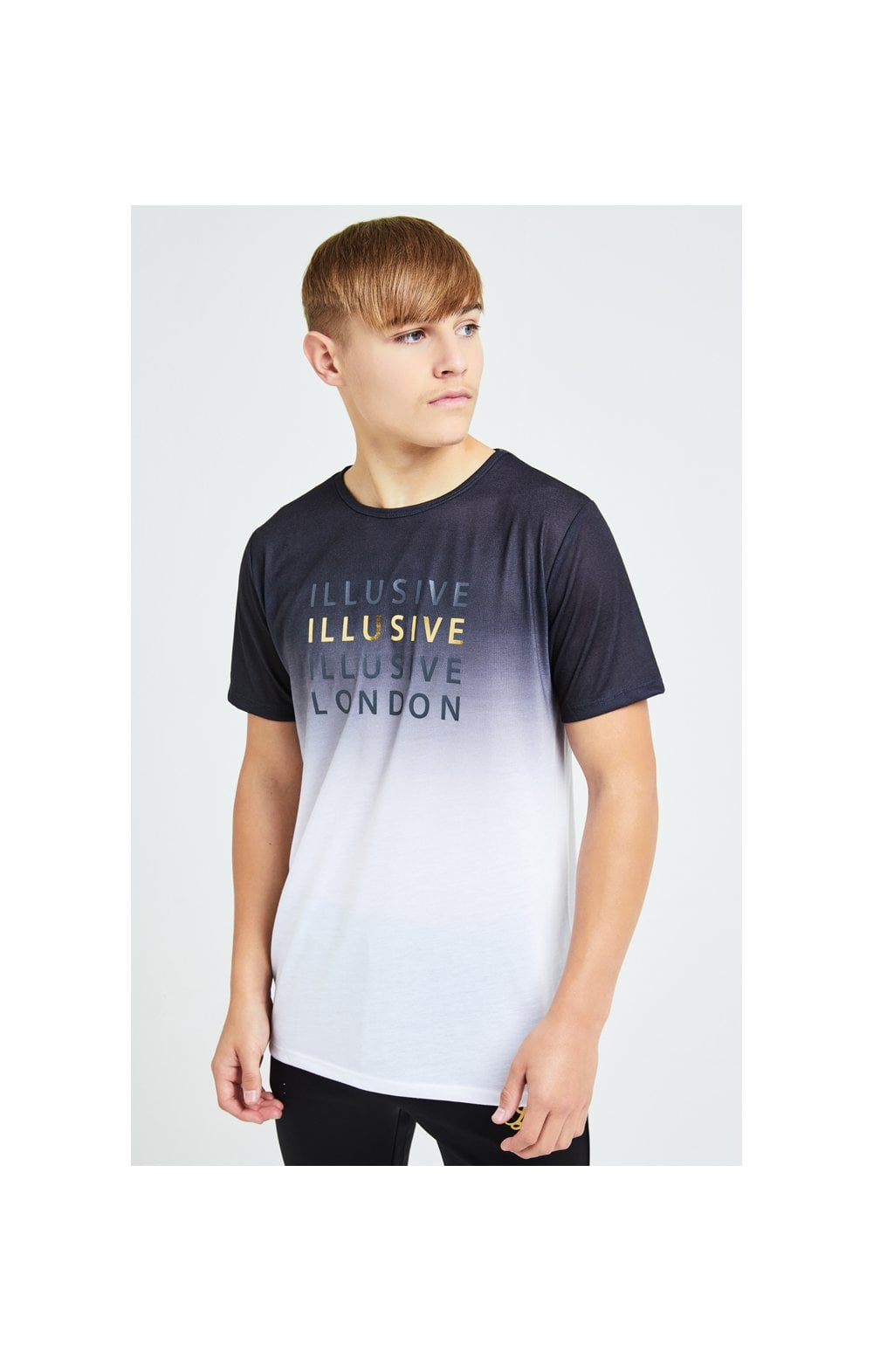 Illusive London Sovereign Fade Tee - Black & White (1)