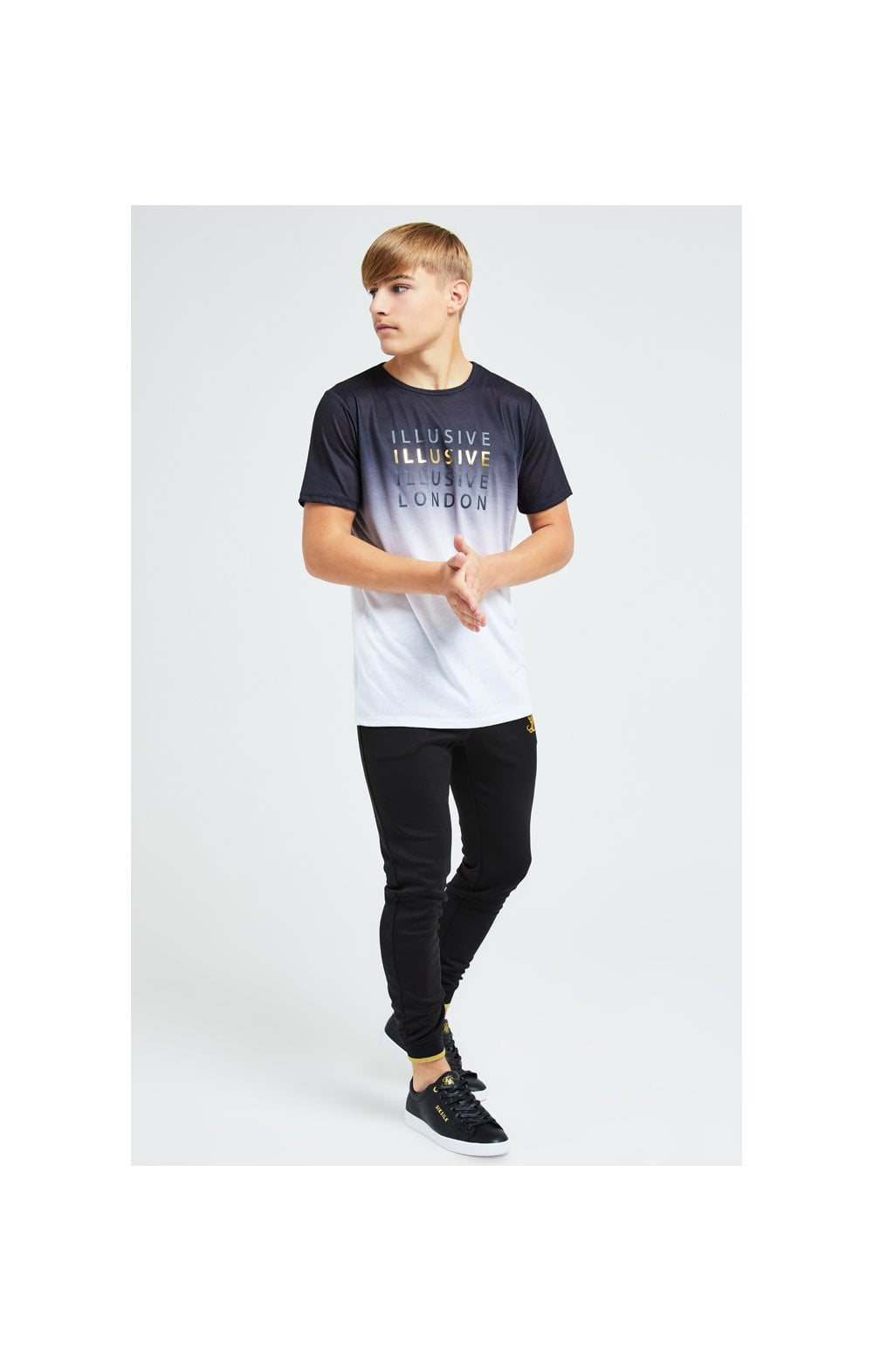 Illusive London Sovereign Fade Tee - Black & White (3)