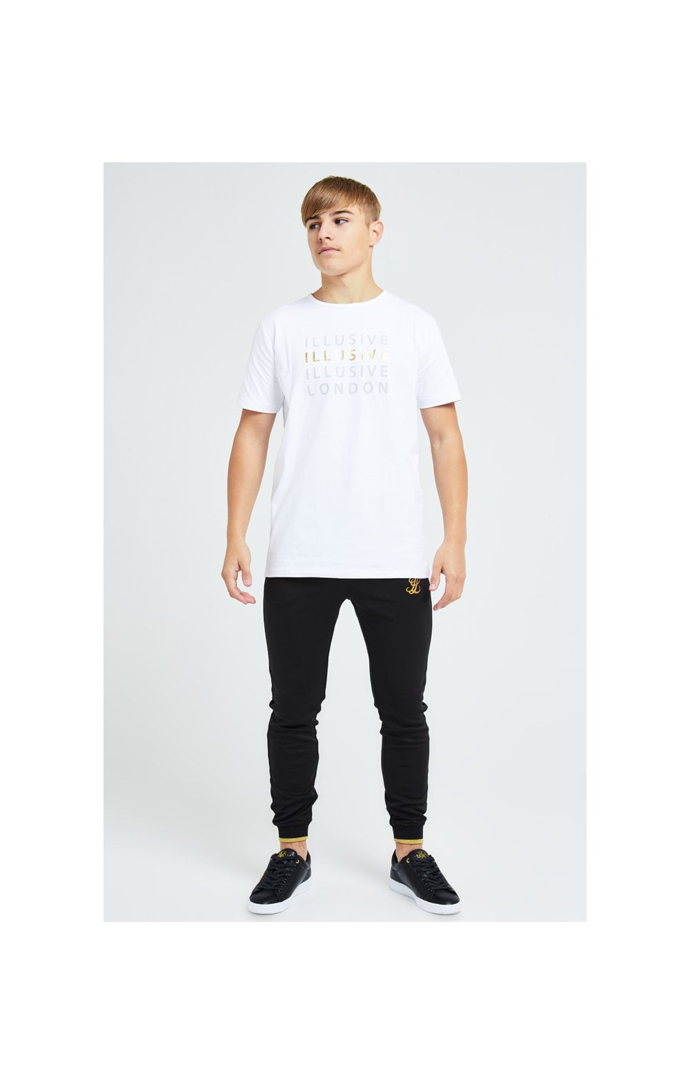 Load image into Gallery viewer, Illusive London Sovereign Tee - White & Gold (3)