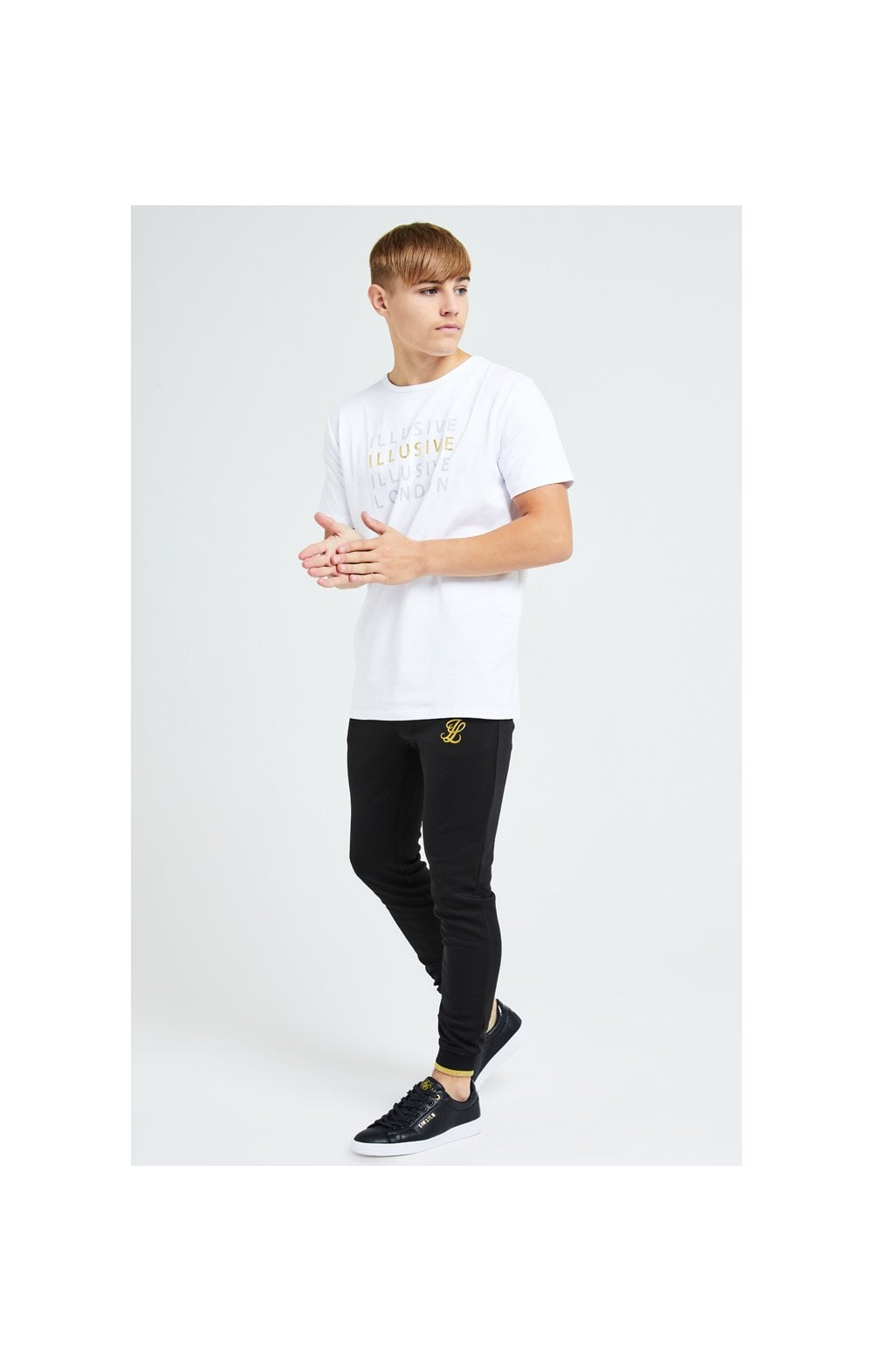 Load image into Gallery viewer, Illusive London Sovereign Tee - White & Gold (4)
