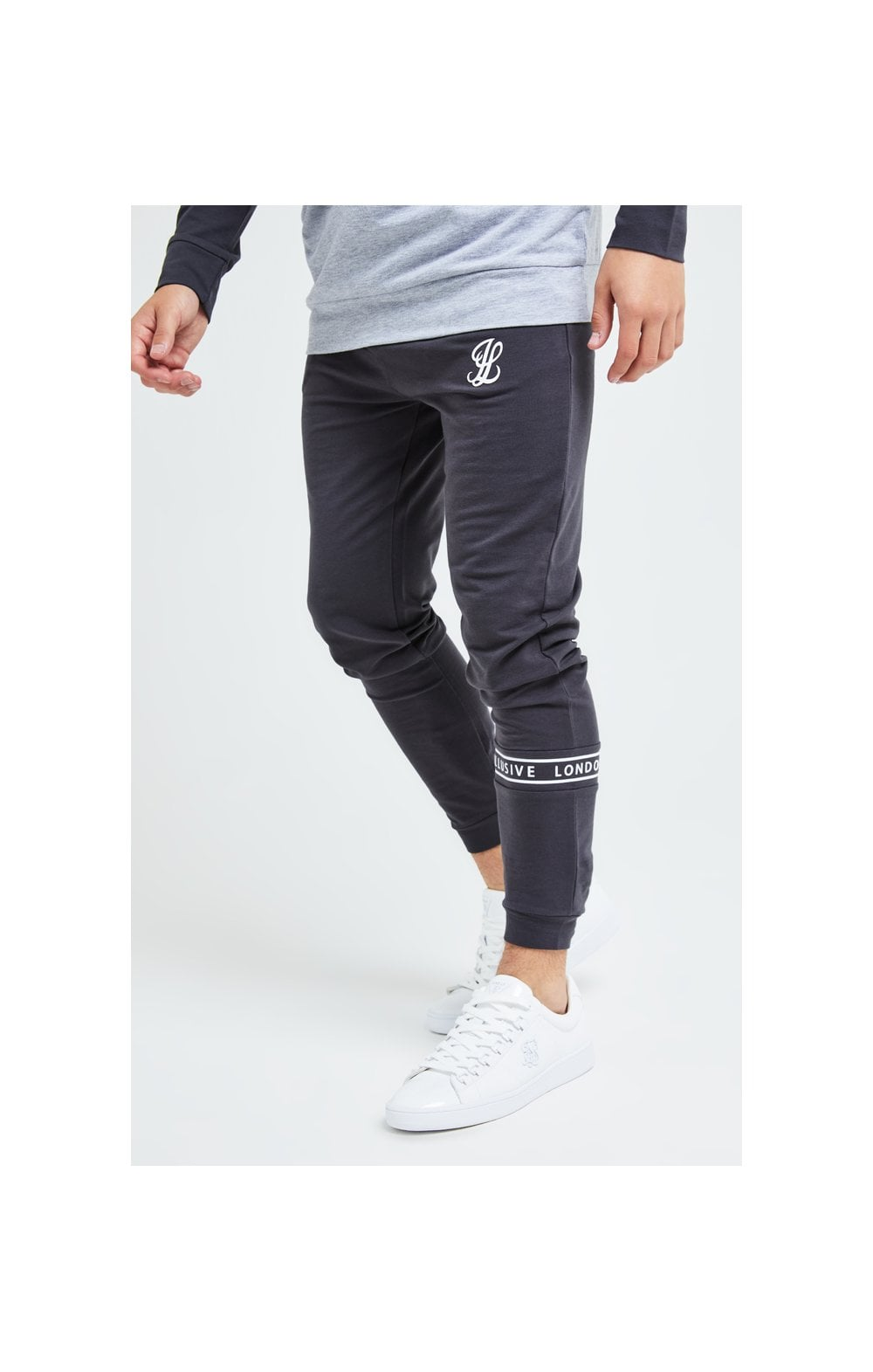 Load image into Gallery viewer, Illusive London Revere Jogger - Dark Grey & Light Grey Marl