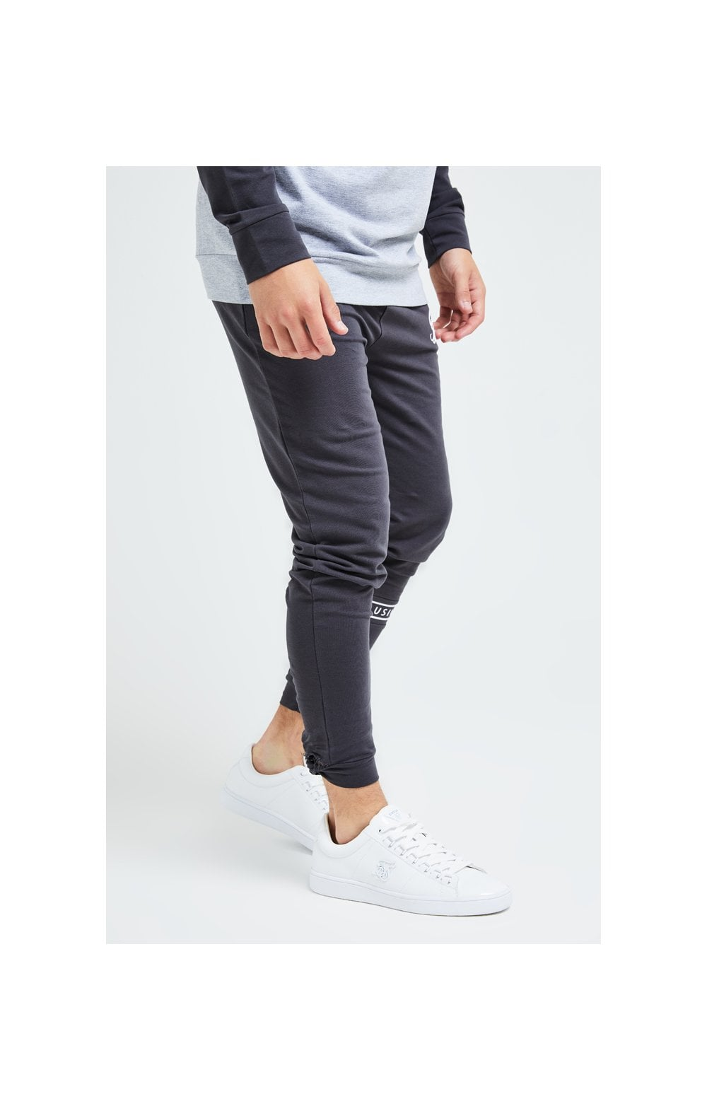 Load image into Gallery viewer, Illusive London Revere Jogger - Dark Grey & Light Grey Marl (1)