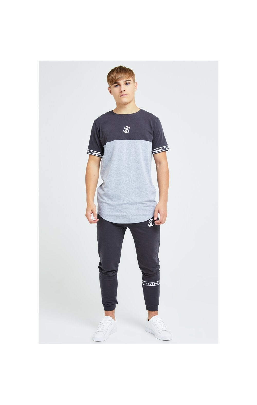 Load image into Gallery viewer, Illusive London Revere Jogger - Dark Grey & Light Grey Marl (4)