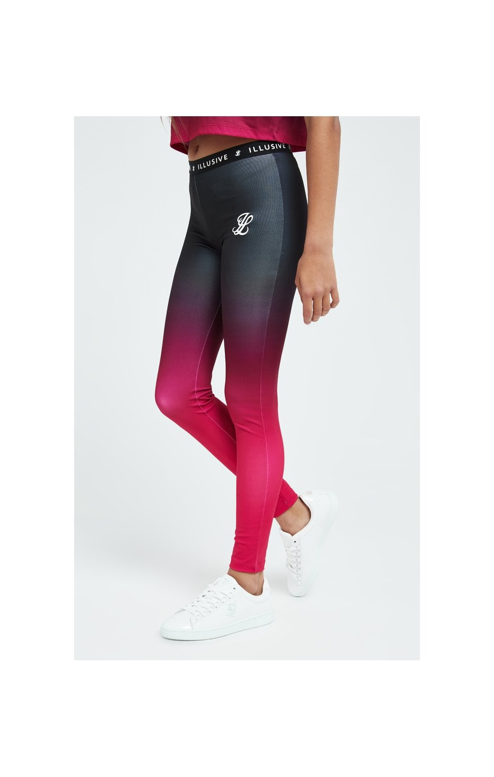 Load image into Gallery viewer, Illusive London Fade Leggings - Pink & Black