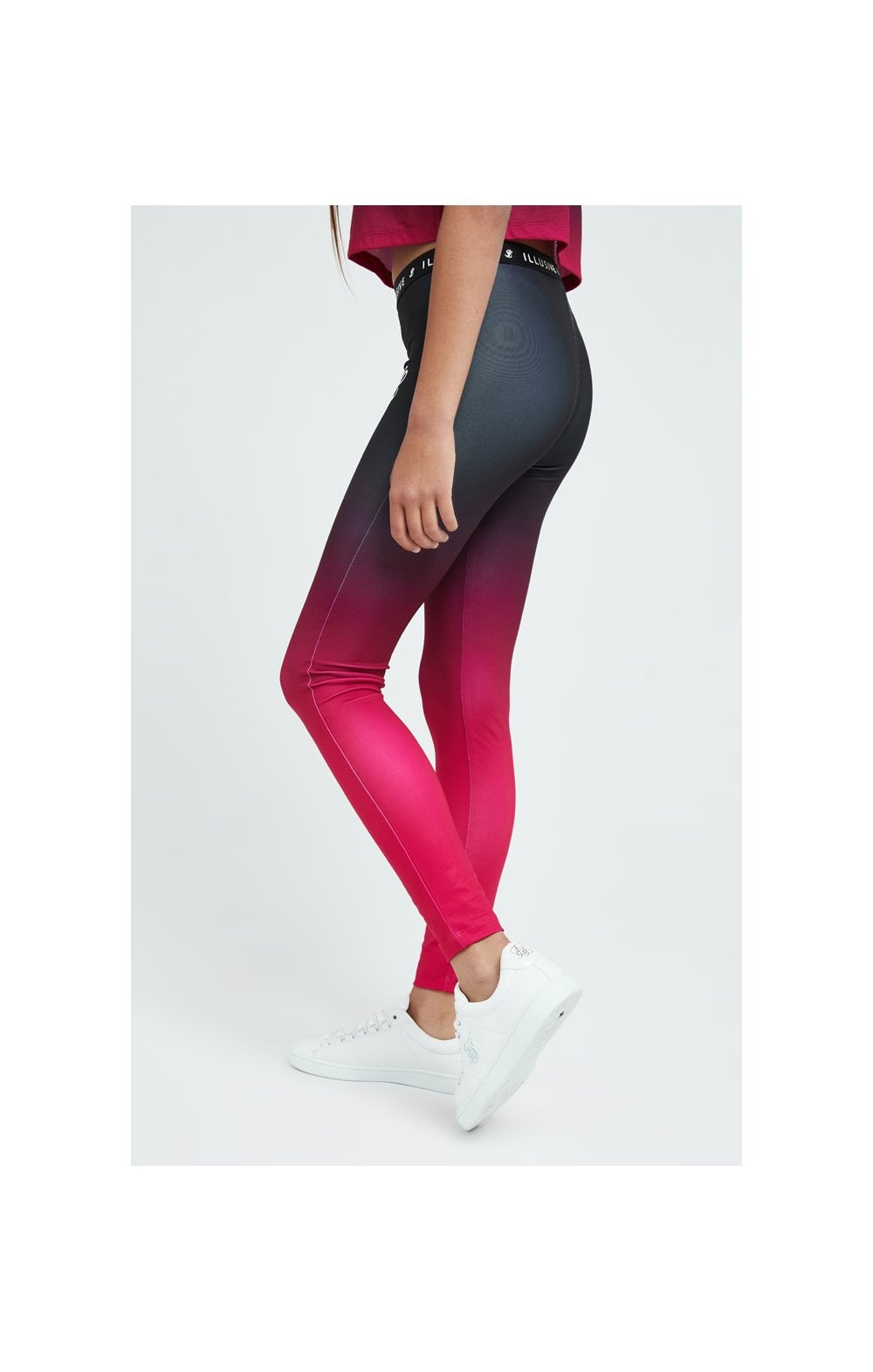 Load image into Gallery viewer, Illusive London Fade Leggings - Pink & Black (1)