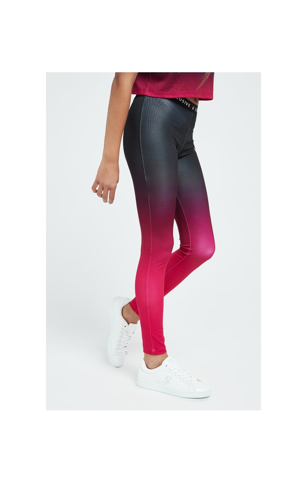 Load image into Gallery viewer, Illusive London Fade Leggings - Pink & Black (2)