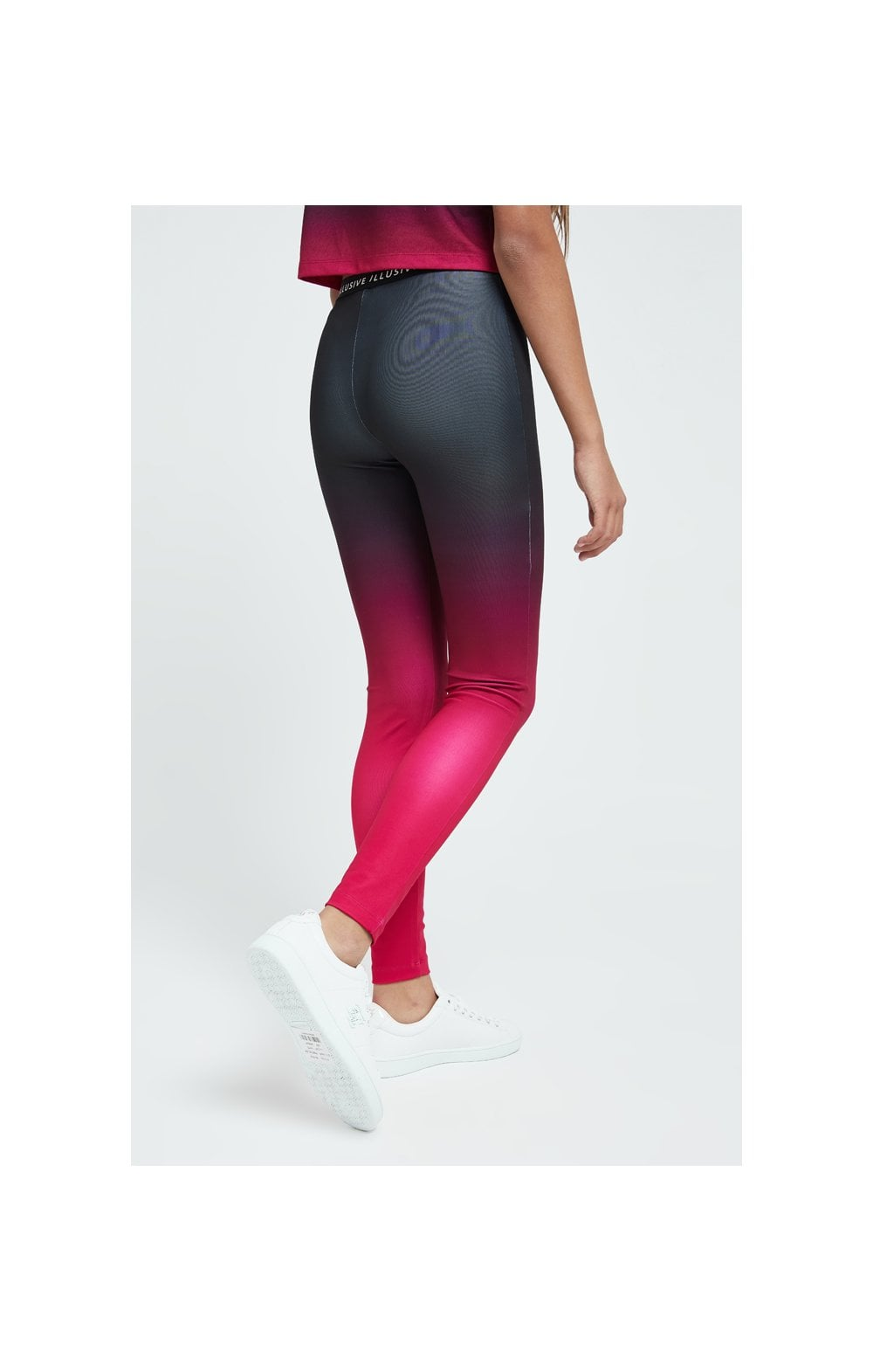 Load image into Gallery viewer, Illusive London Fade Leggings - Pink & Black (3)