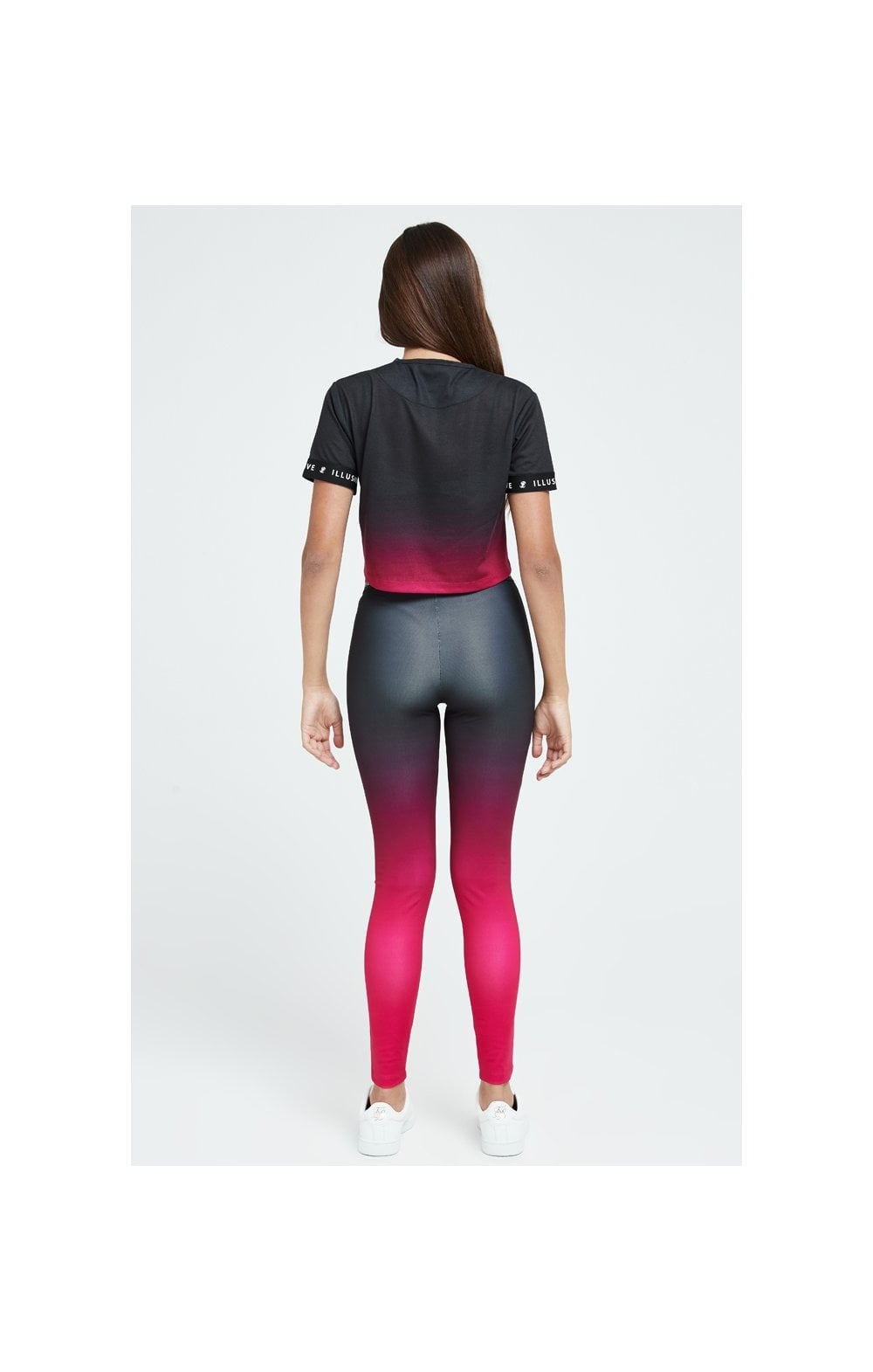 Load image into Gallery viewer, Illusive London Fade Leggings - Pink & Black (5)