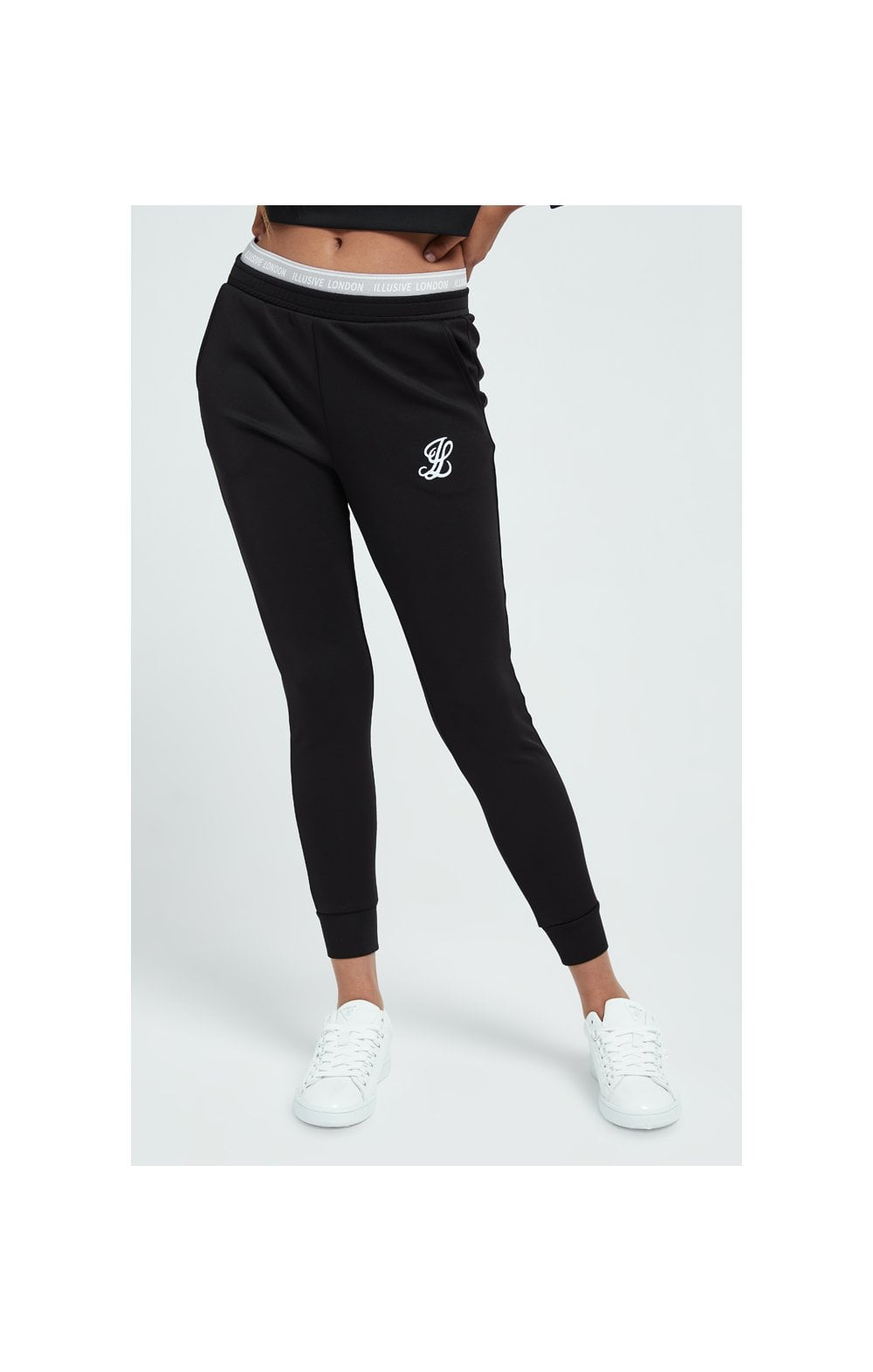 Load image into Gallery viewer, Illusive London Tape Track Pants - Black