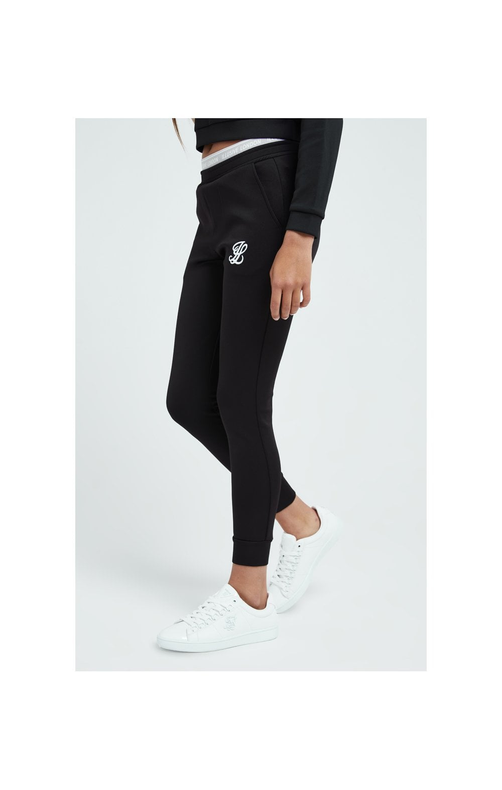 Load image into Gallery viewer, Illusive London Tape Track Pants - Black (1)