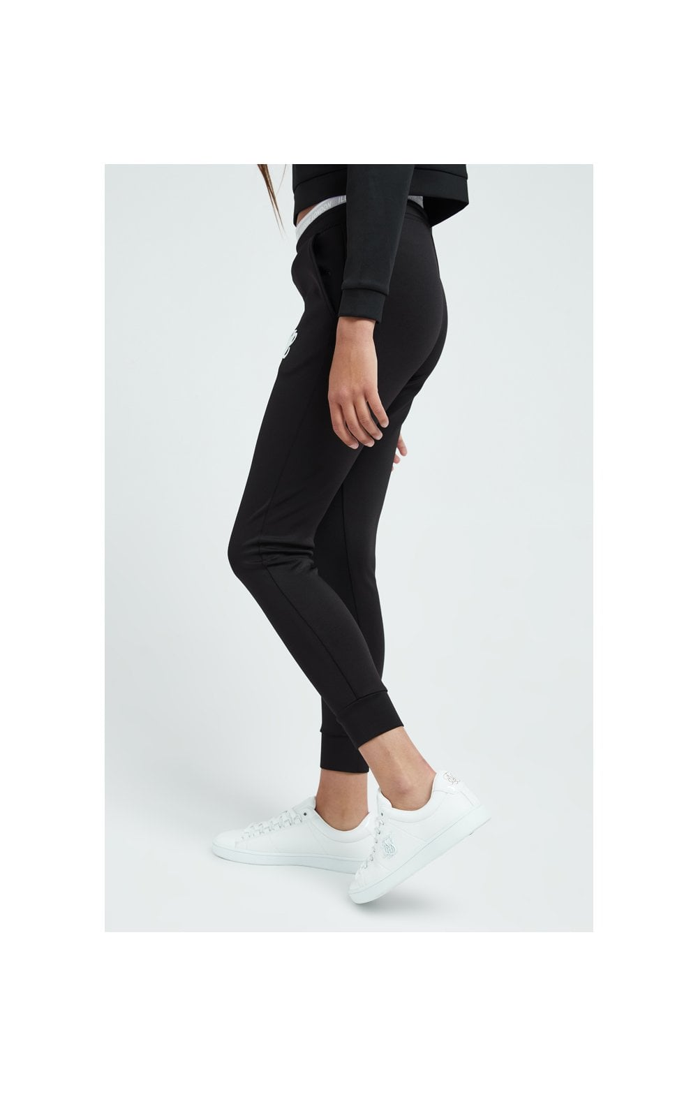 Load image into Gallery viewer, Illusive London Tape Track Pants - Black (2)