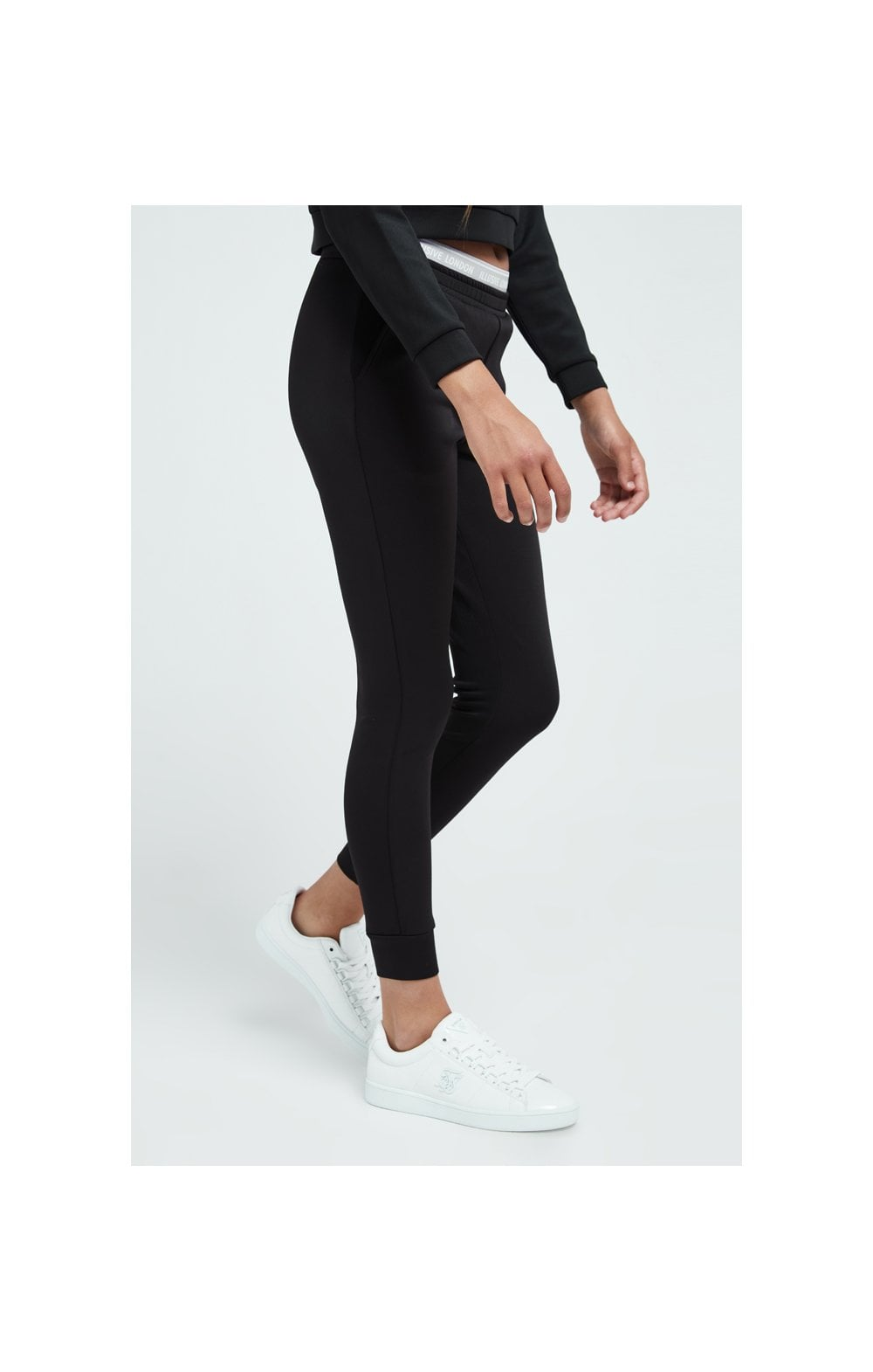 Load image into Gallery viewer, Illusive London Tape Track Pants - Black (3)