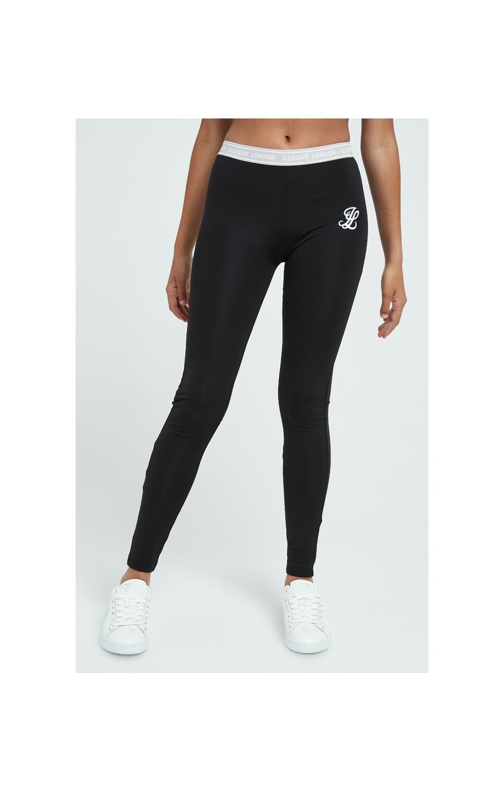 Load image into Gallery viewer, Illusive London Tape Leggings - Black
