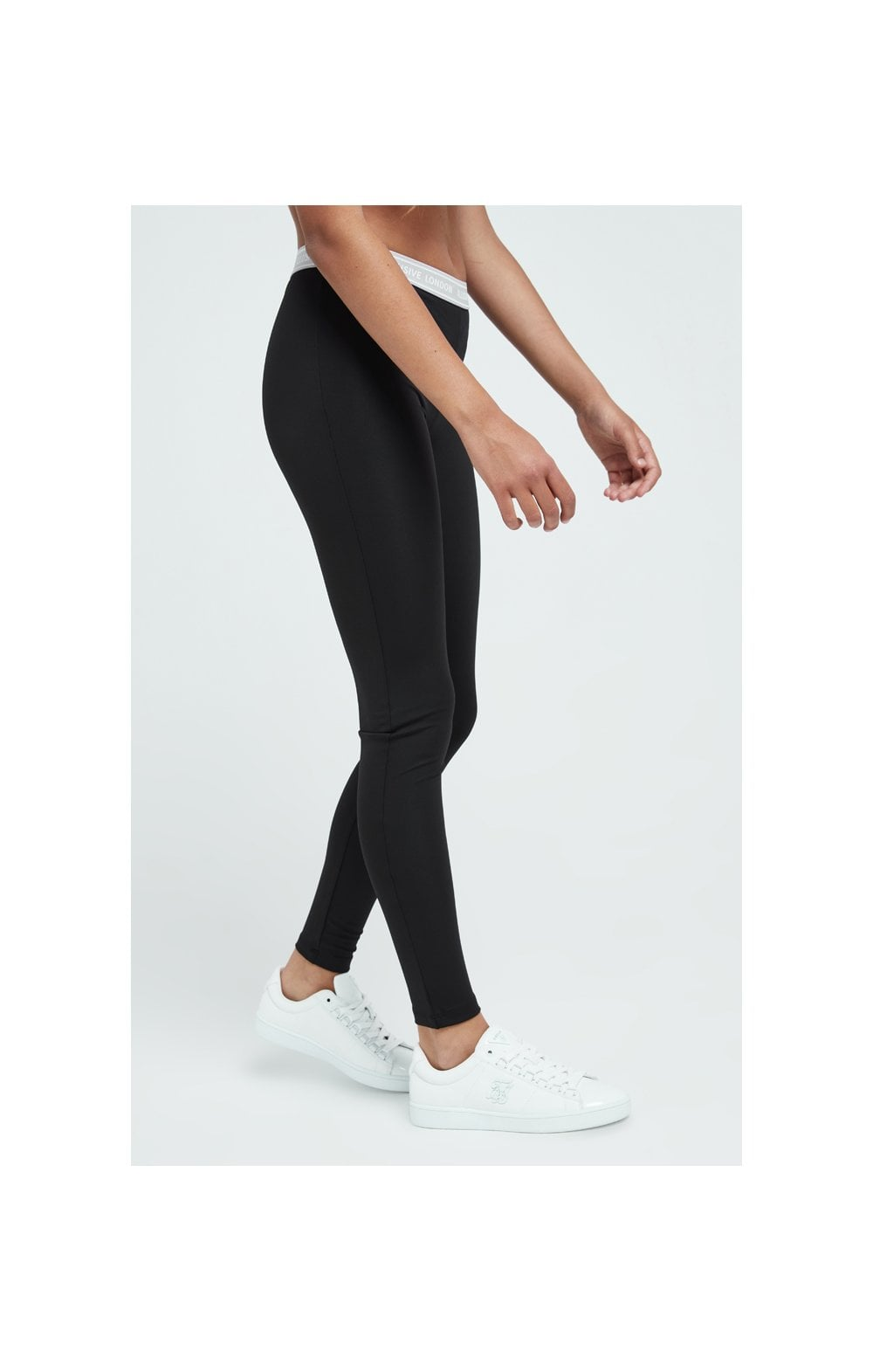 Load image into Gallery viewer, Illusive London Tape Leggings - Black (2)