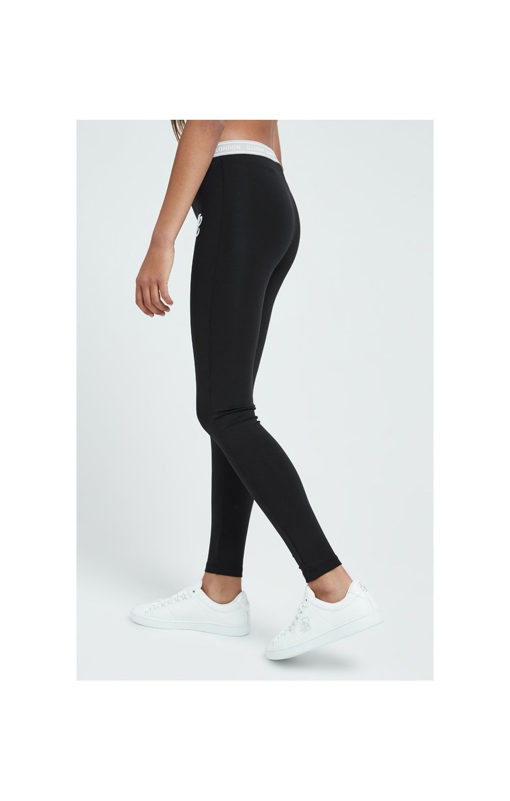Load image into Gallery viewer, Illusive London Tape Leggings - Black (3)