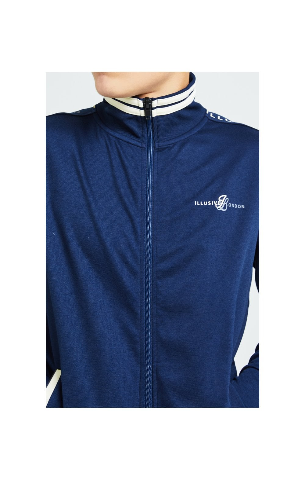 Illusive London Legacy Track Top - Navy & Cream (2)