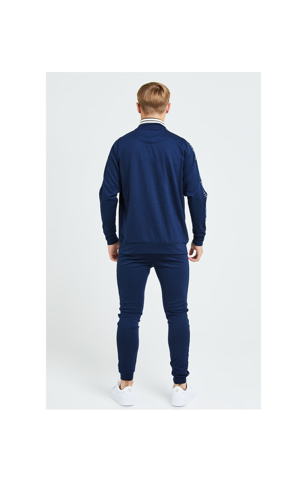 Illusive London Legacy Track Top - Navy & Cream (6)