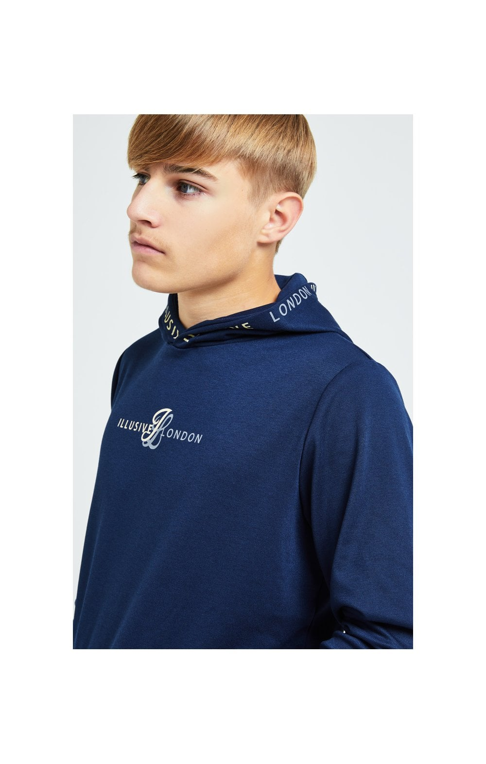 Illusive London Legacy Overhead Hoodie - Navy (2)
