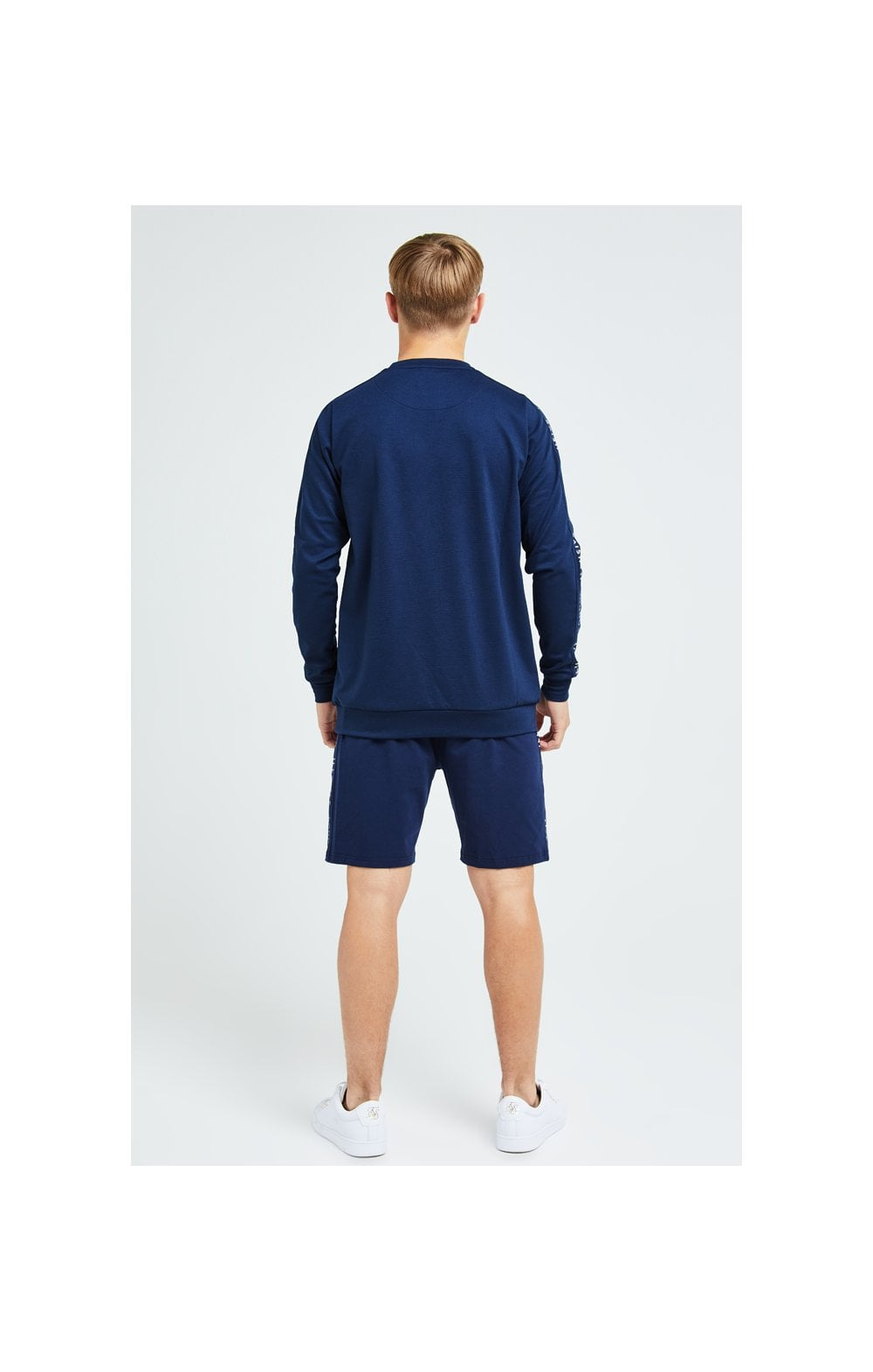 Load image into Gallery viewer, Illusive London Legacy Crew Sweater - Navy & Cream (6)