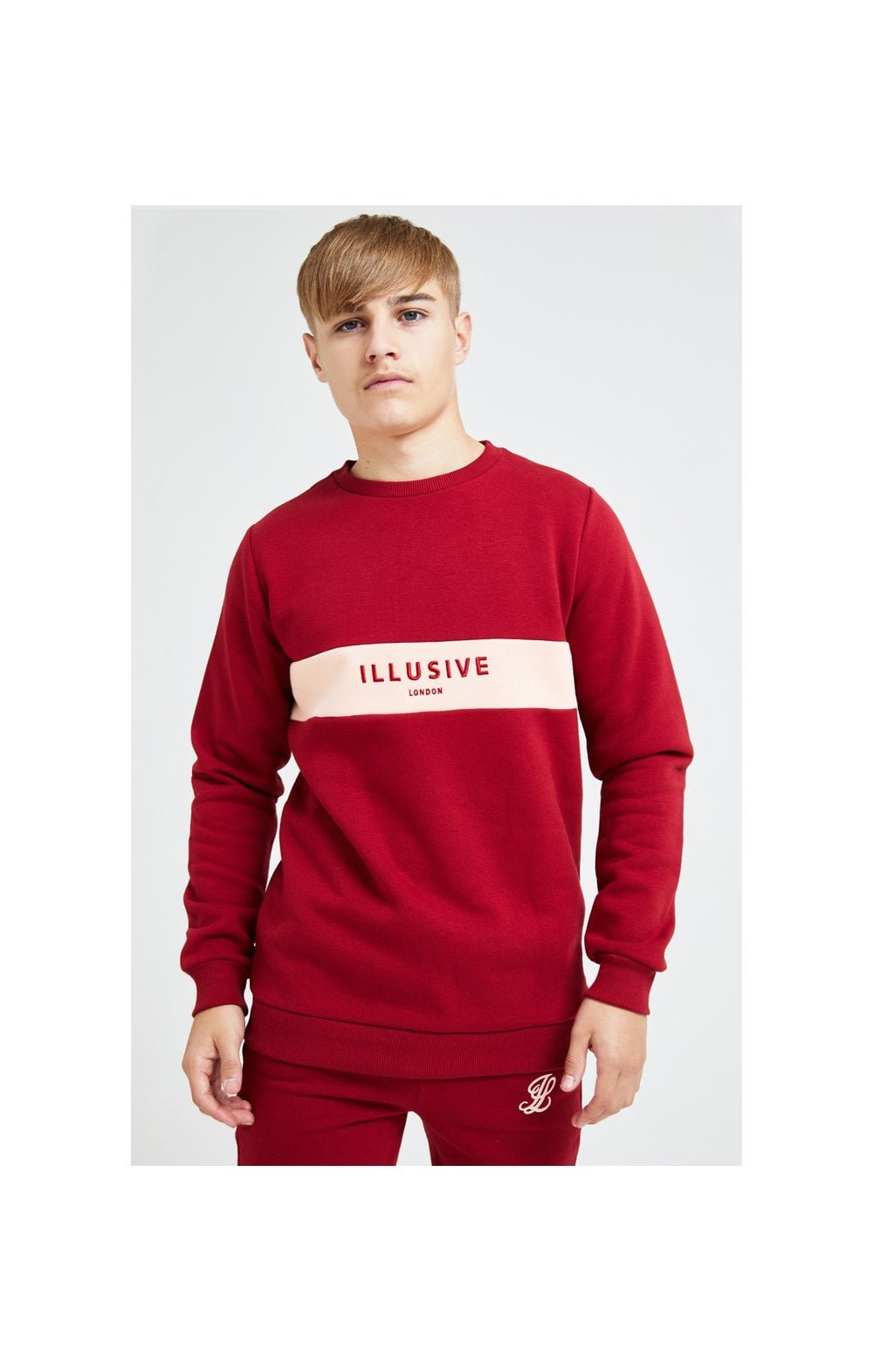 Illusive London Divergence Crew Sweater - Red & Pink (1)